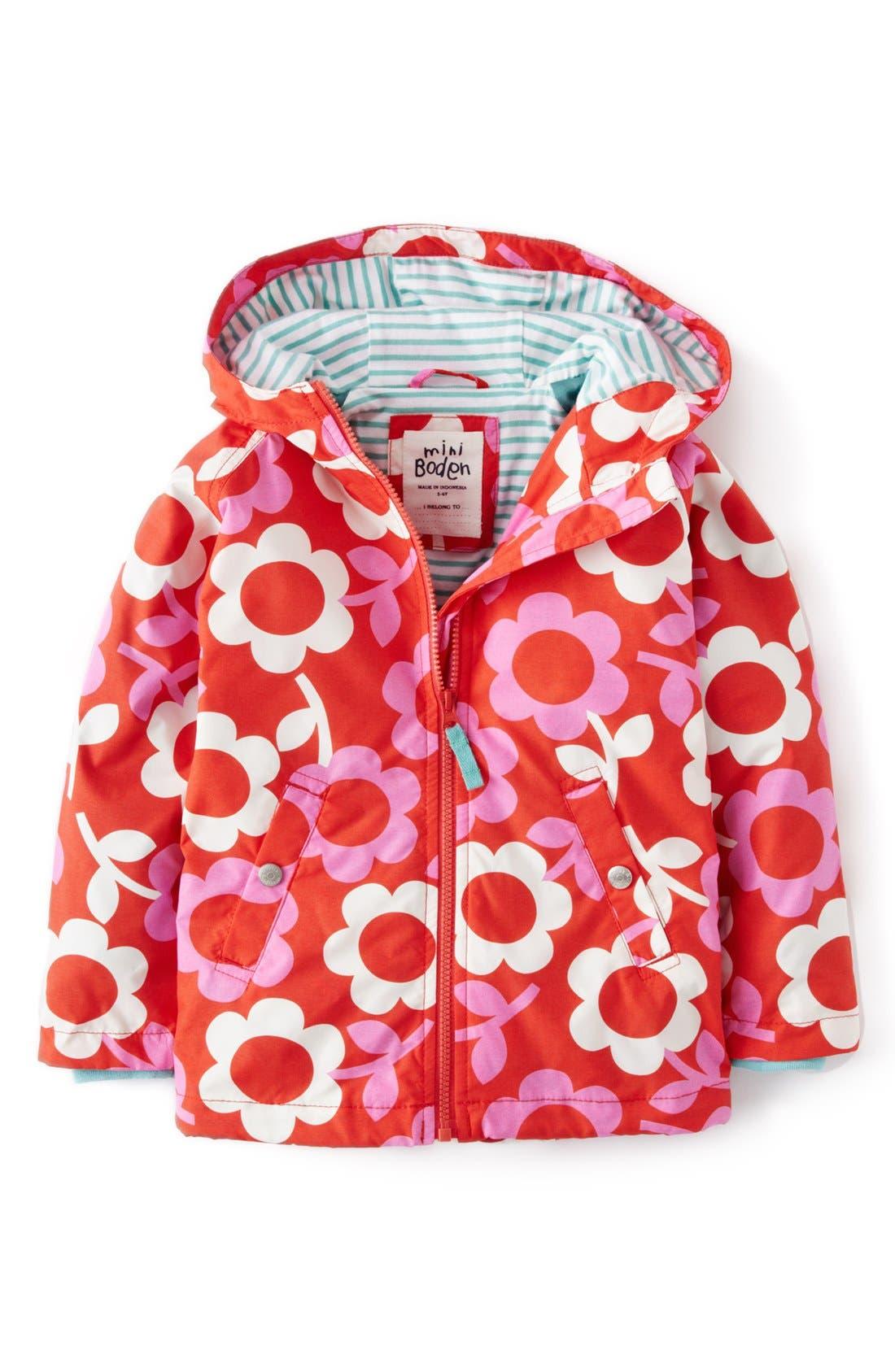 Main Image - Mini Boden Jersey Lined Hooded Anorak (Toddler Girls, Little Girls & Big Girls)