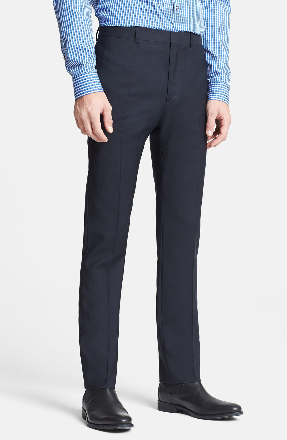 Main Image - PS Paul Smith Slim Fit Wool Trousers