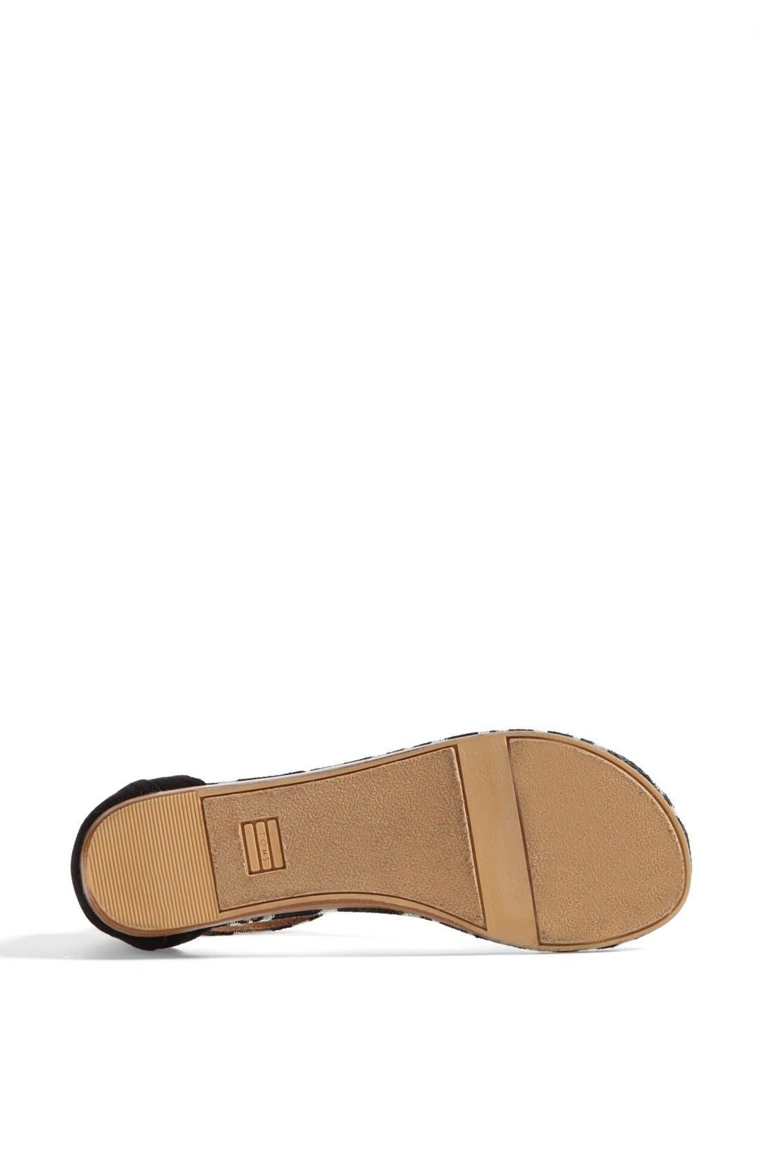 Alternate Image 4  - TOMS 'Playa' T-Strap Flat Sandal