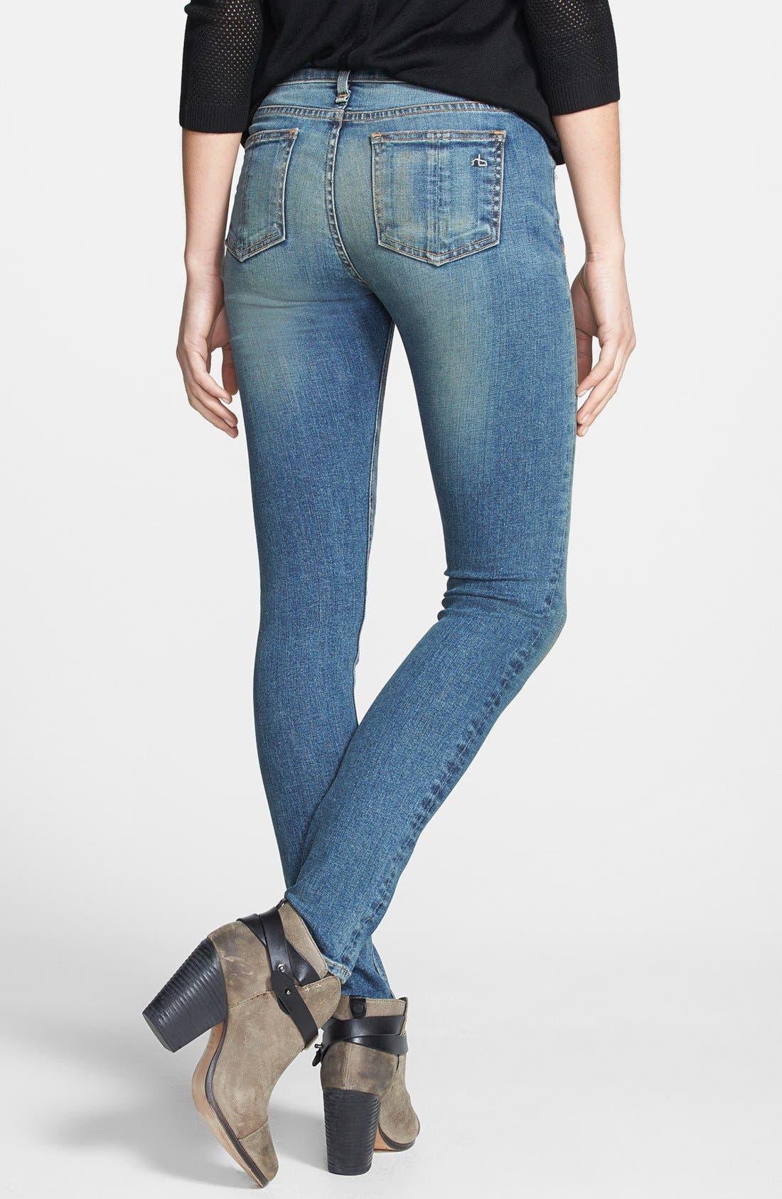 Alternate Image 2  - rag & bone/JEAN Skinny Stretch Jeans (Brimfield)