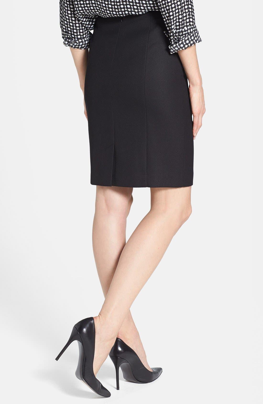 Alternate Image 2  - Halogen® Diamond Stretch Suit Skirt (Petite)