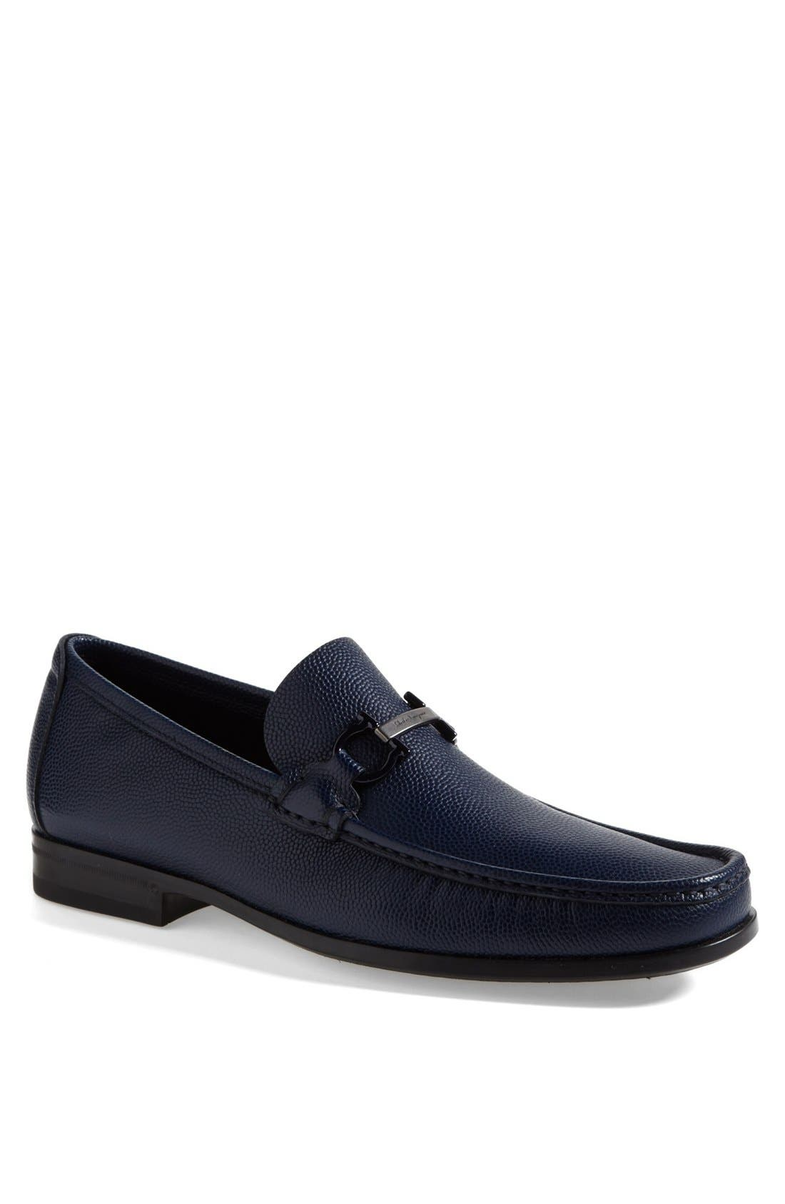 Alternate Image 1 Selected - Salvatore Ferragamo 'Regal' Pebbled Leather Loafer