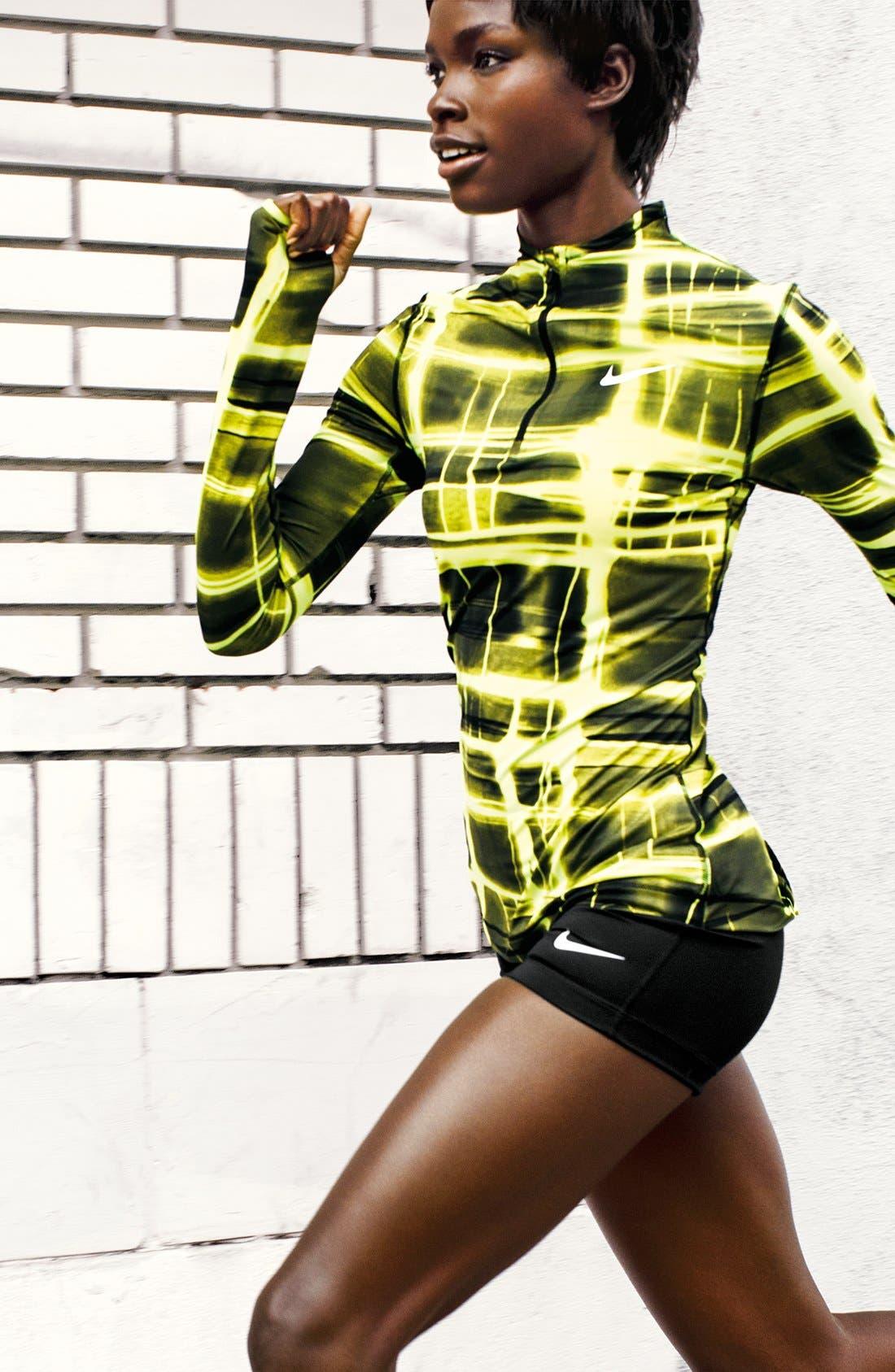 Alternate Image 5  - Nike 'Pro' Dri-FIT Printed Half Zip Top