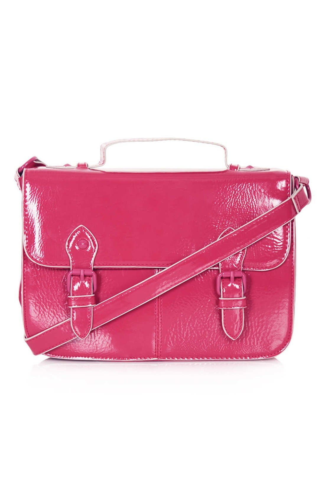 Alternate Image 1 Selected - Topshop Double Buckle Satchel