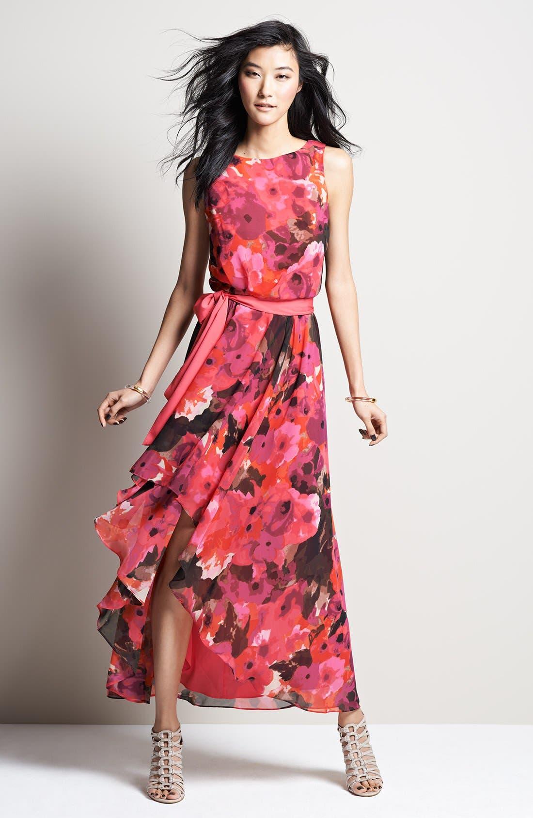 Alternate Image 5  - Eliza J Print High/Low Chiffon Dress