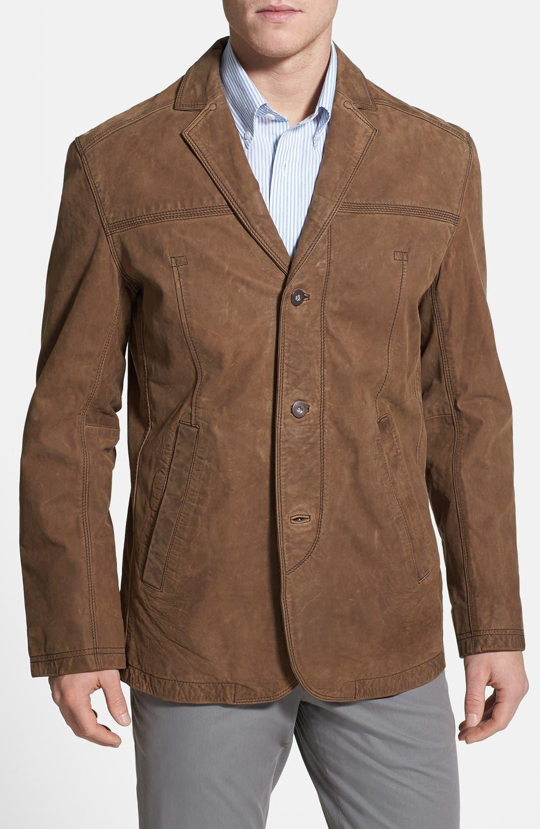 Main Image - Timberland 'Bayview' Nubuck Leather Sport Coat