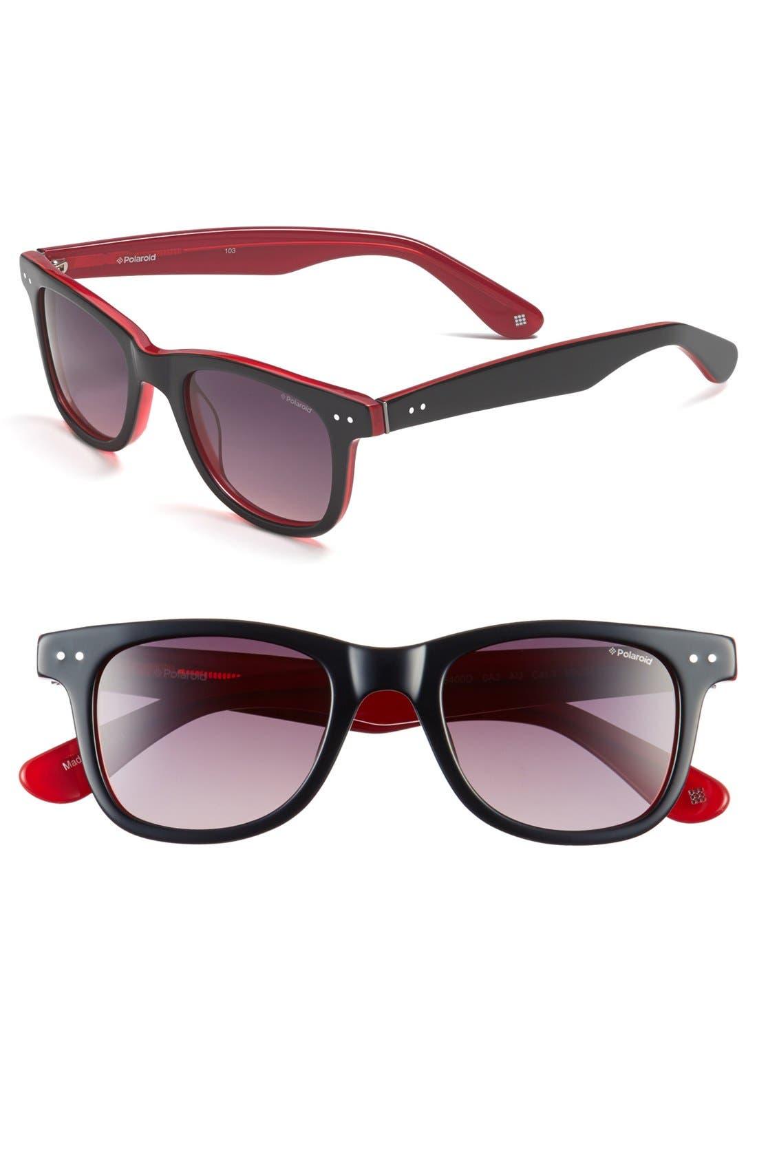 Alternate Image 1 Selected - Polaroid Eyewear 50mm Retro Polarized Sunglasses