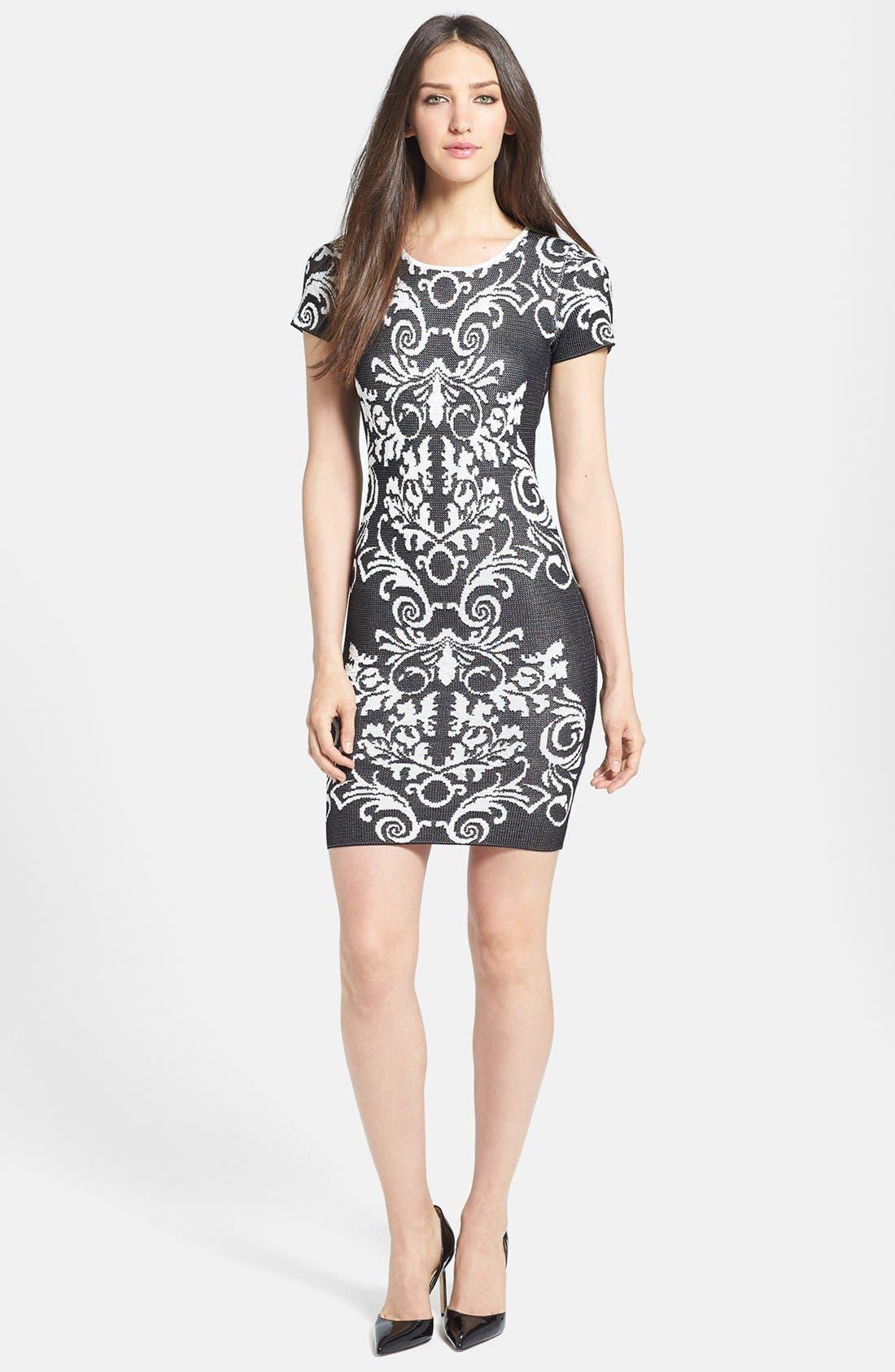 Alternate Image 1 Selected - Parker 'Adele' Intarsia Body-Con Dress