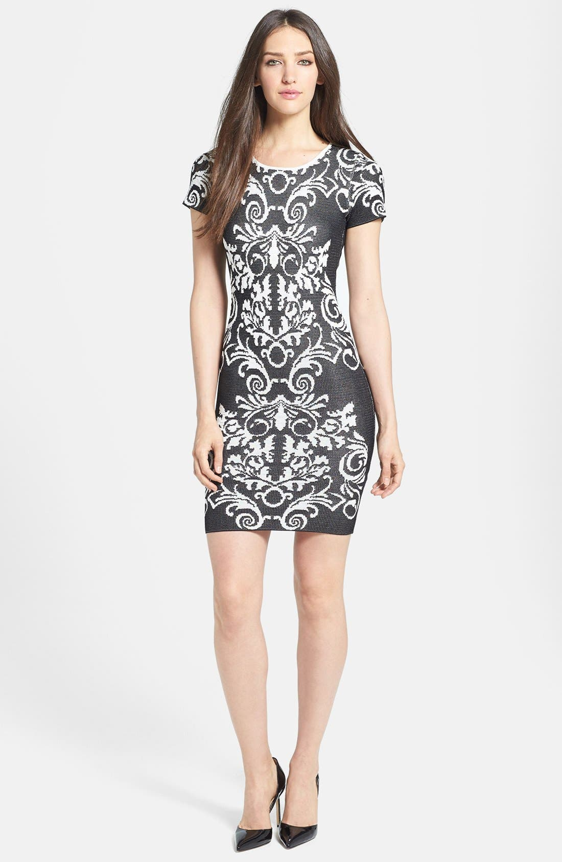 Main Image - Parker 'Adele' Intarsia Body-Con Dress