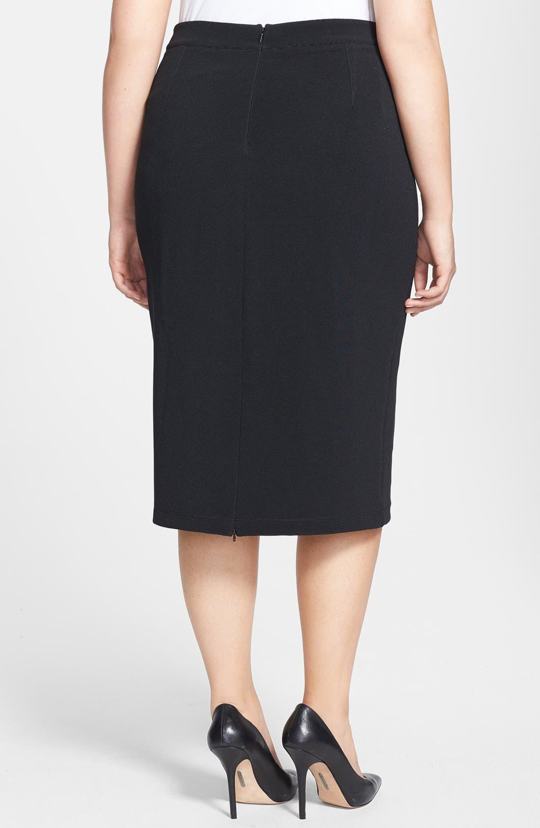 Alternate Image 2  - Halogen® Pencil Skirt (Plus Size)
