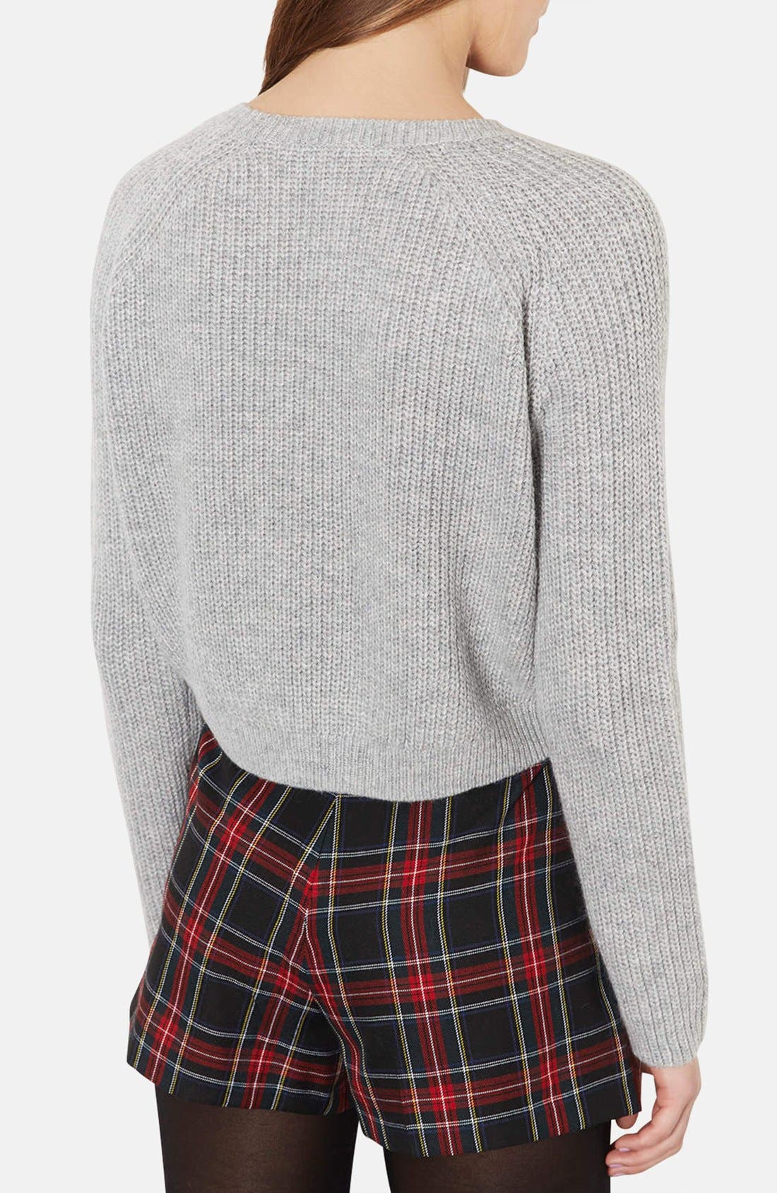 Alternate Image 2  - Topshop Ribbed Crop Sweater