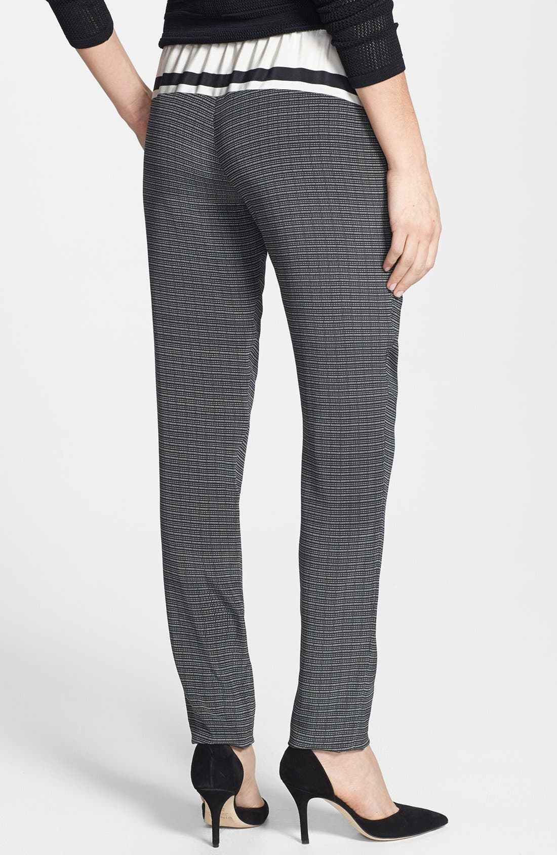 Alternate Image 2  - Vince Print Silk Track Pants