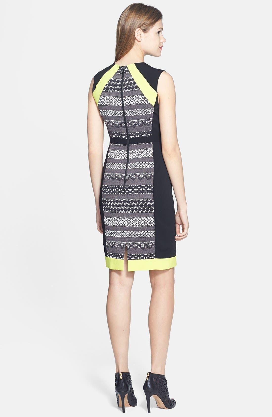 Alternate Image 2  - BCBGMAXAZRIA 'Eileen' Stretch Crepe Sheath Dress