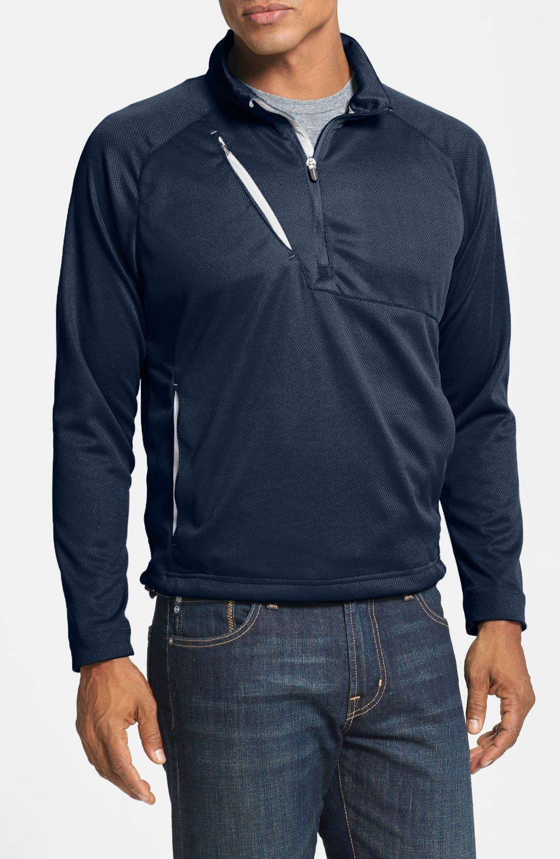 Alternate Image 1 Selected - Zero Restriction 'Wedge' Quarter Zip Pullover