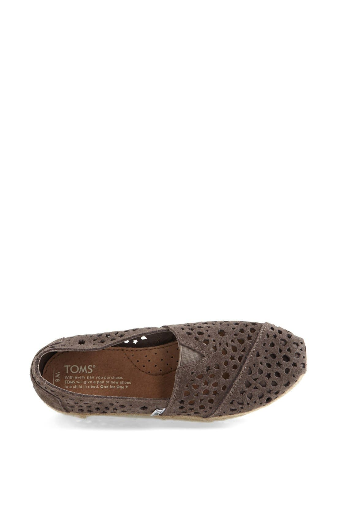 Alternate Image 3  - TOMS 'Classic - Moroccan Cutout' Slip-On (Women)