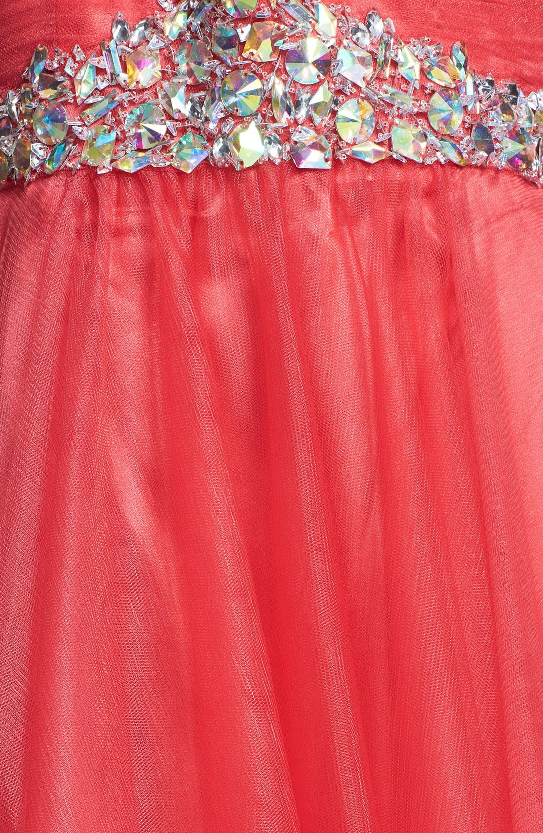 Alternate Image 3  - Sean Collection Embellished Strapless Tulle Ball Gown