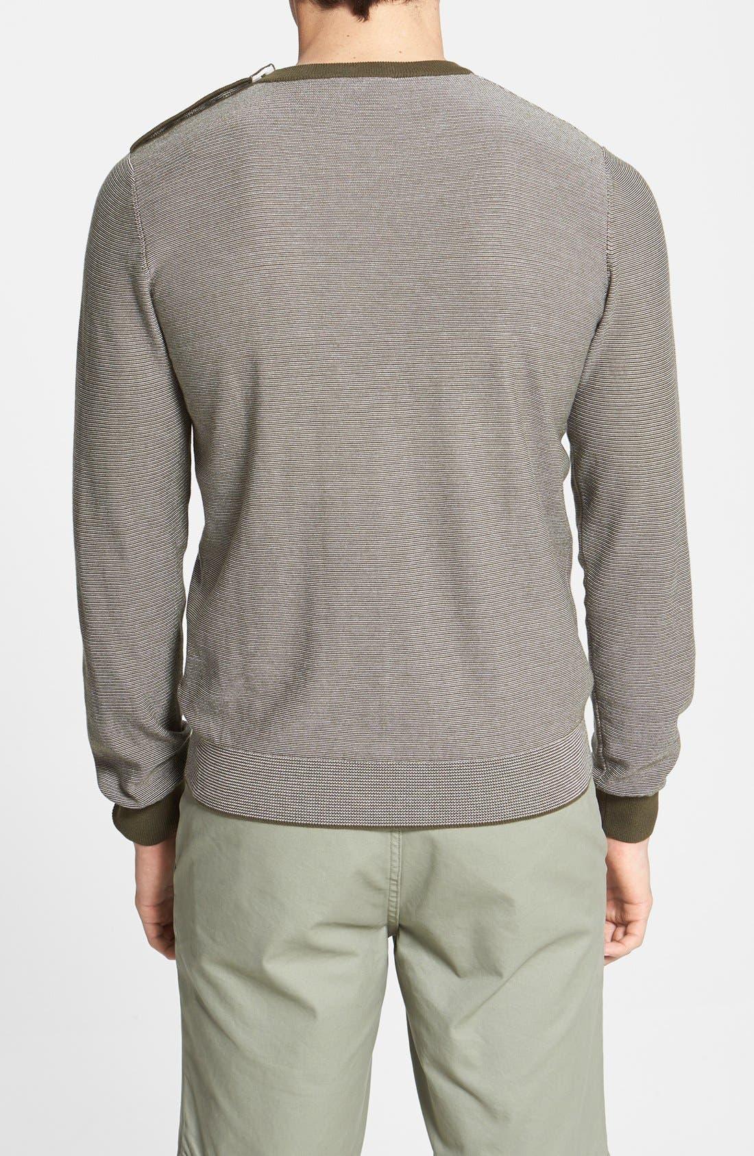 Alternate Image 2  - Façonnable Stripe Crewneck Sweater