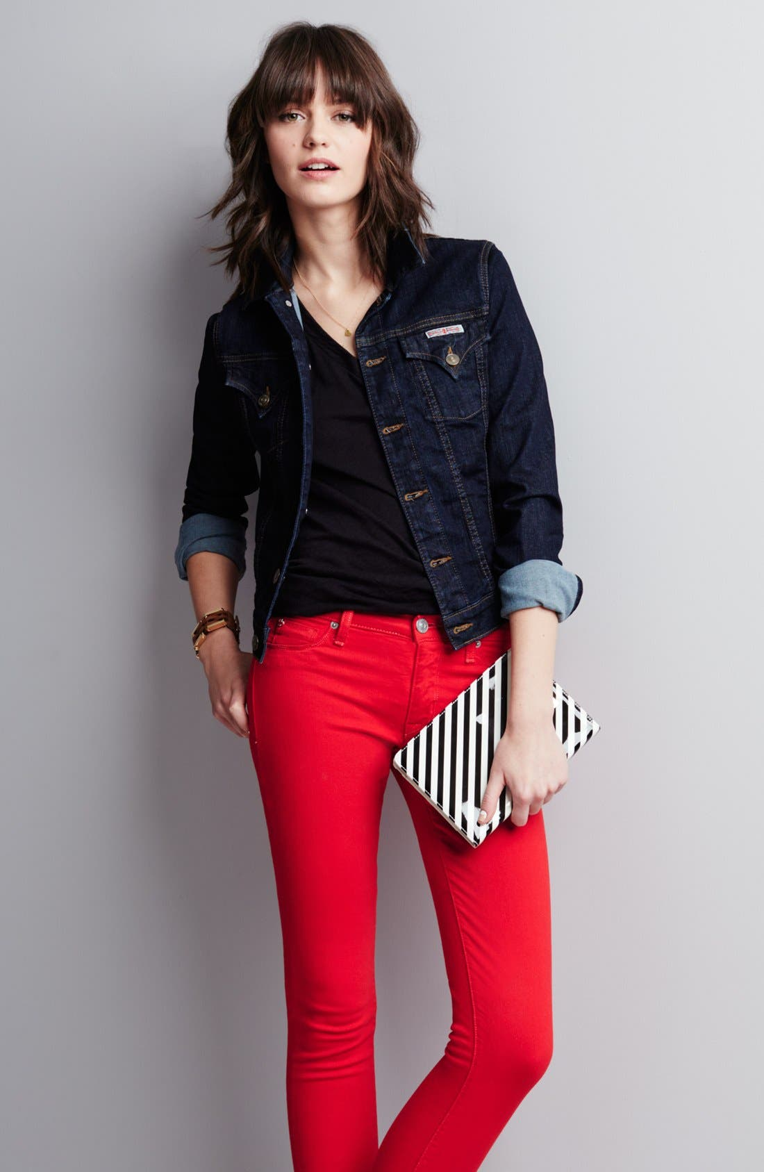 Alternate Image 4  - Hudson Jeans Mid Rise Skinny Jeans