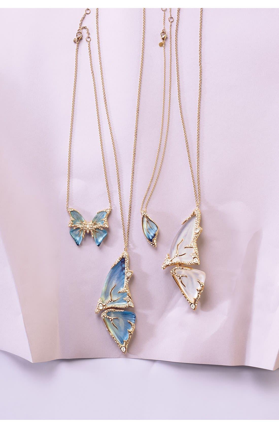 Alternate Image 3  - Alexis Bittar 'Lucite® - Jardin Mystère' Butterfly Wing Pendant Necklace