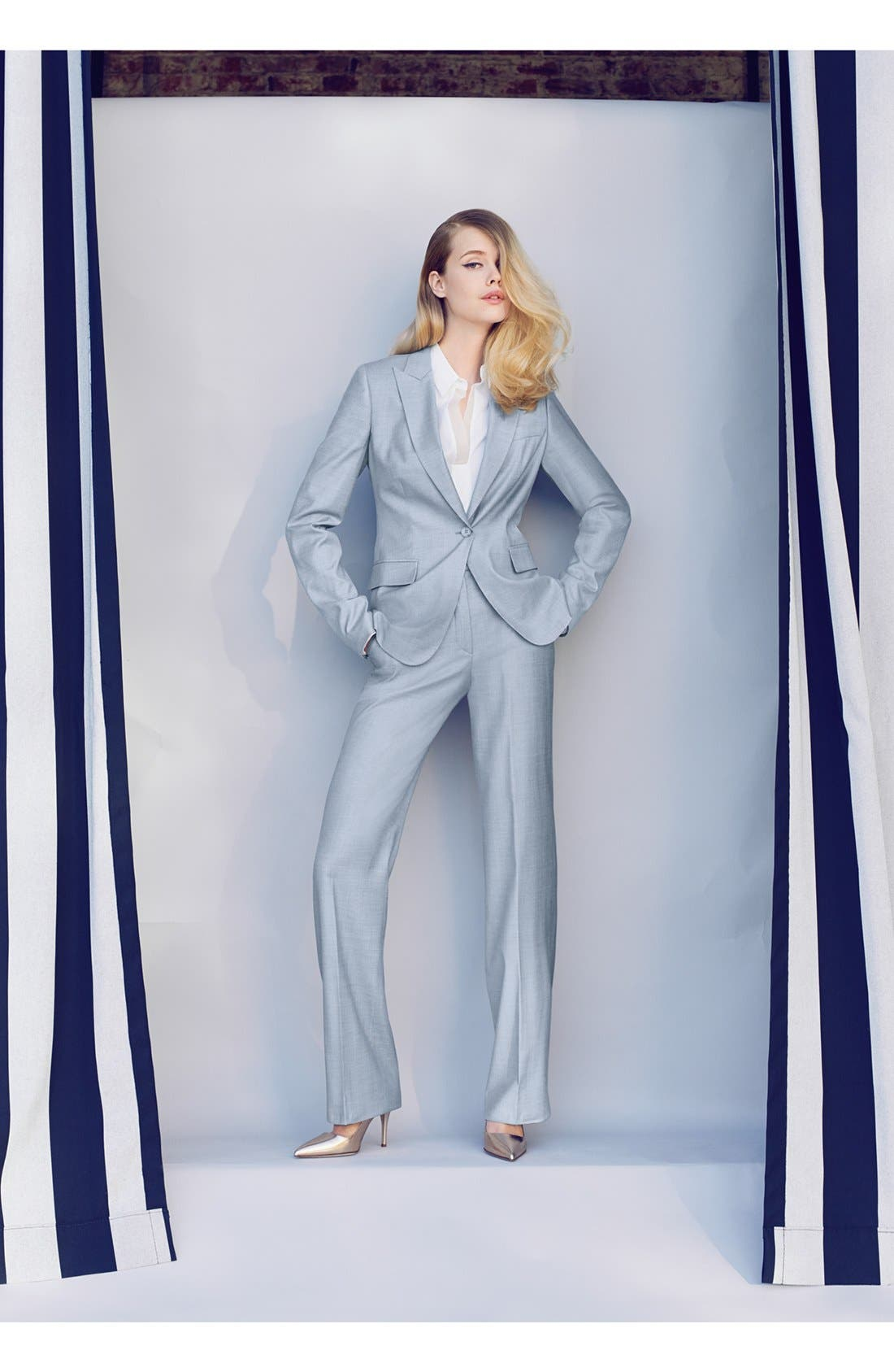 Alternate Image 4  - BOSS HUGO BOSS 'Tillina' Stretch Wool Blend Trousers