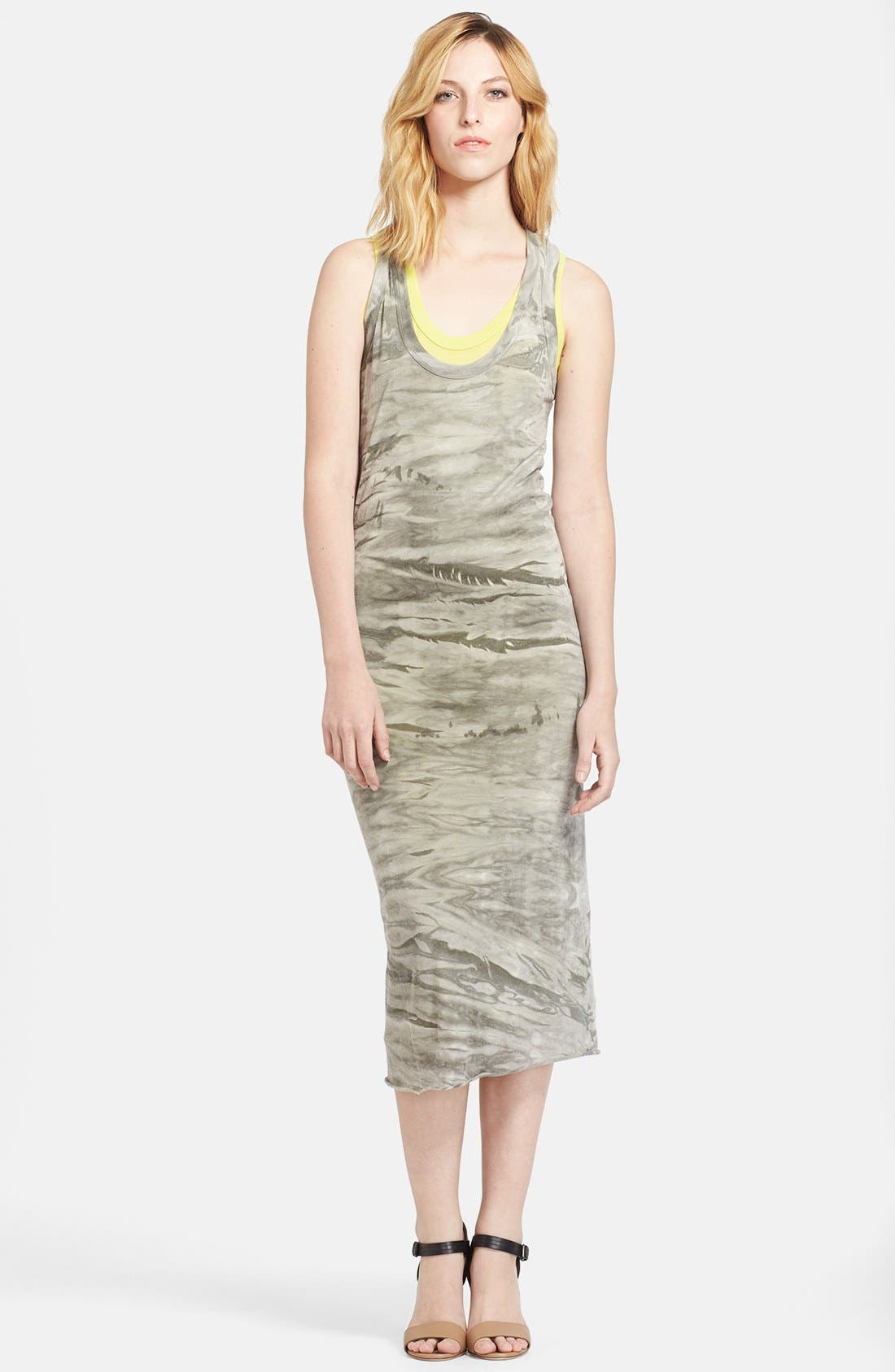 Alternate Image 1 Selected - Enza Costa Double Layer Midi Tank Dress