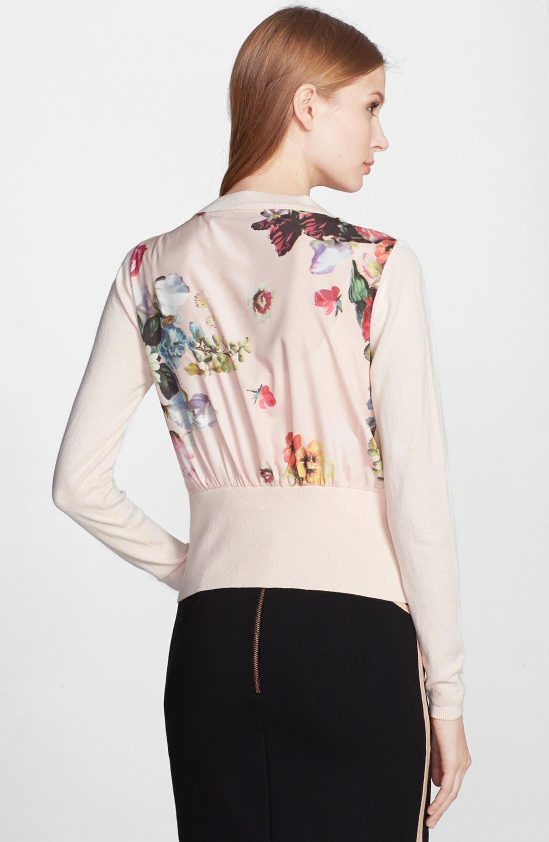 Alternate Image 2  - Ted Baker London 'Nude Oil Painting' Floral Insert Cardigan