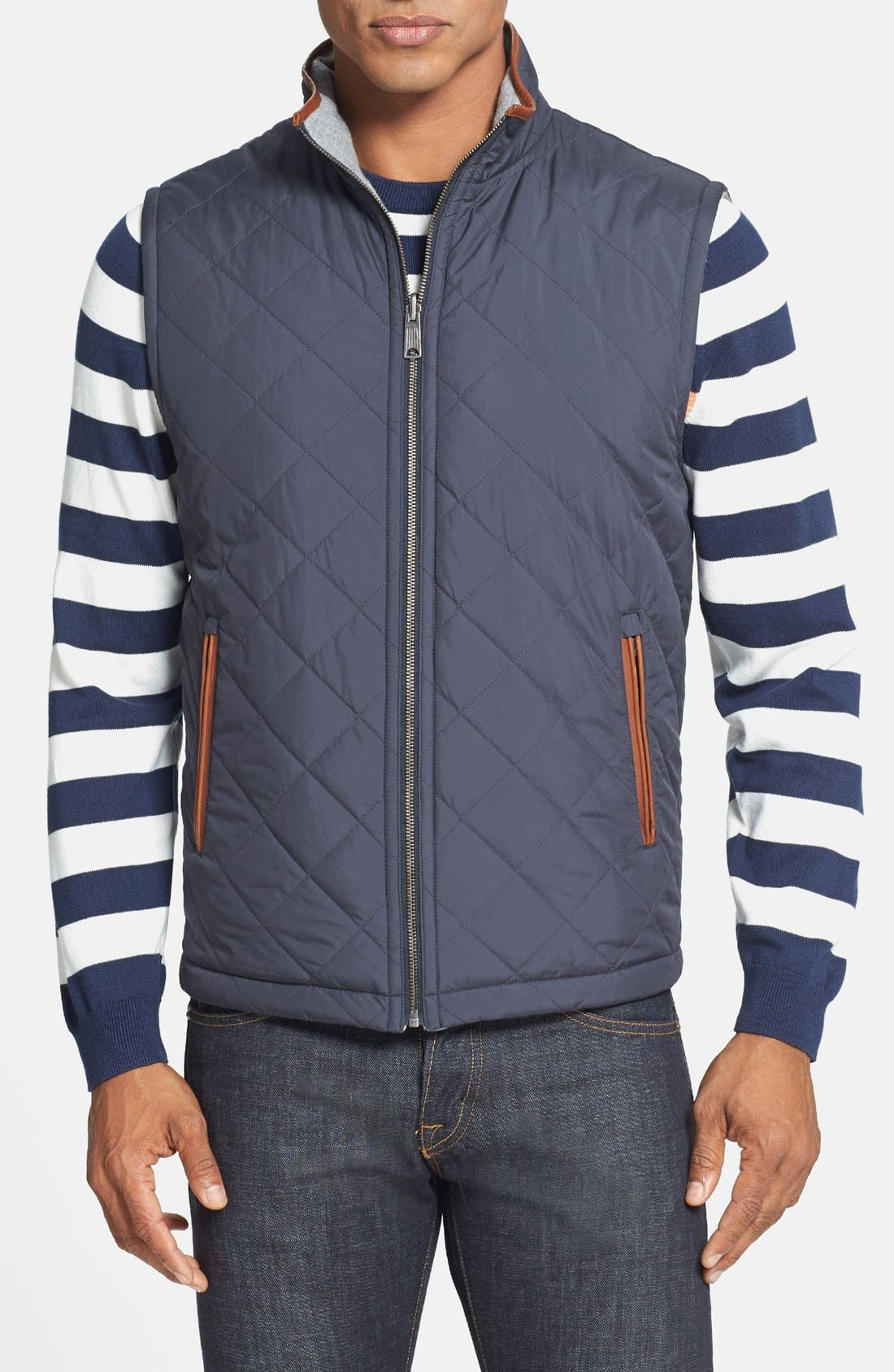 Alternate Image 1 Selected - Brooks Brothers Reversible Quilted Vest
