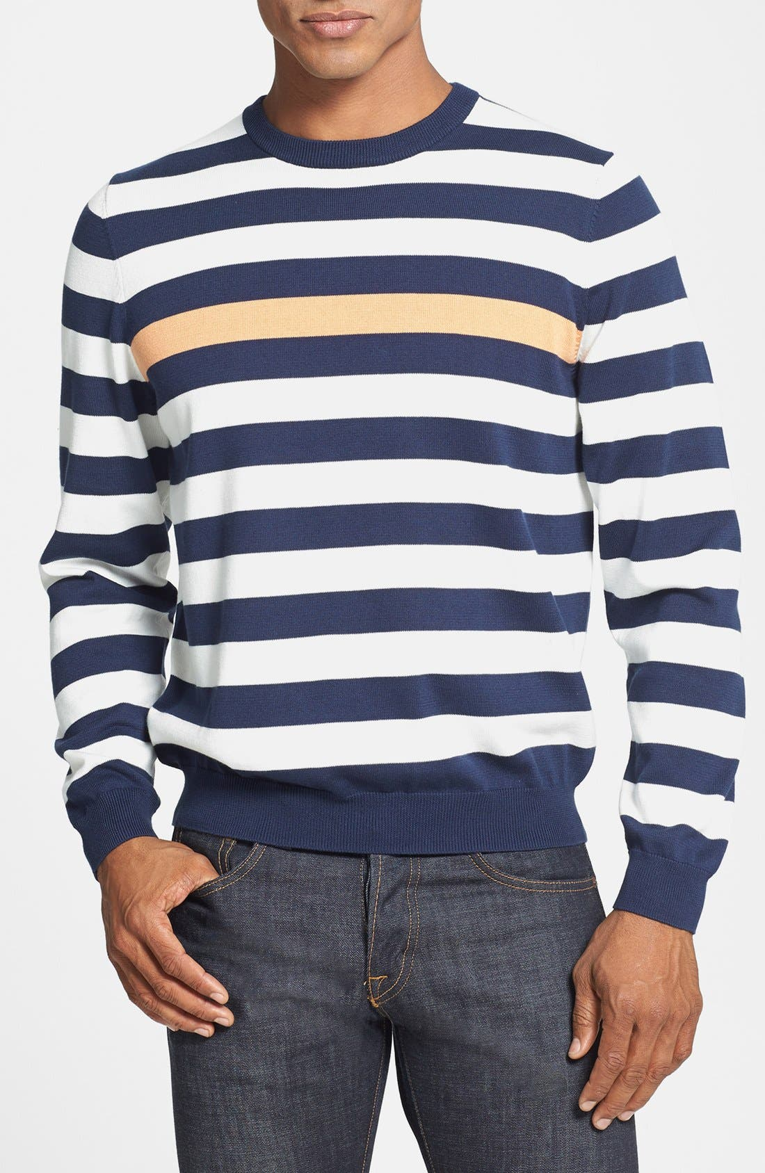 Alternate Image 1 Selected - Brooks Brothers Supima® Cotton Crewneck Sweater