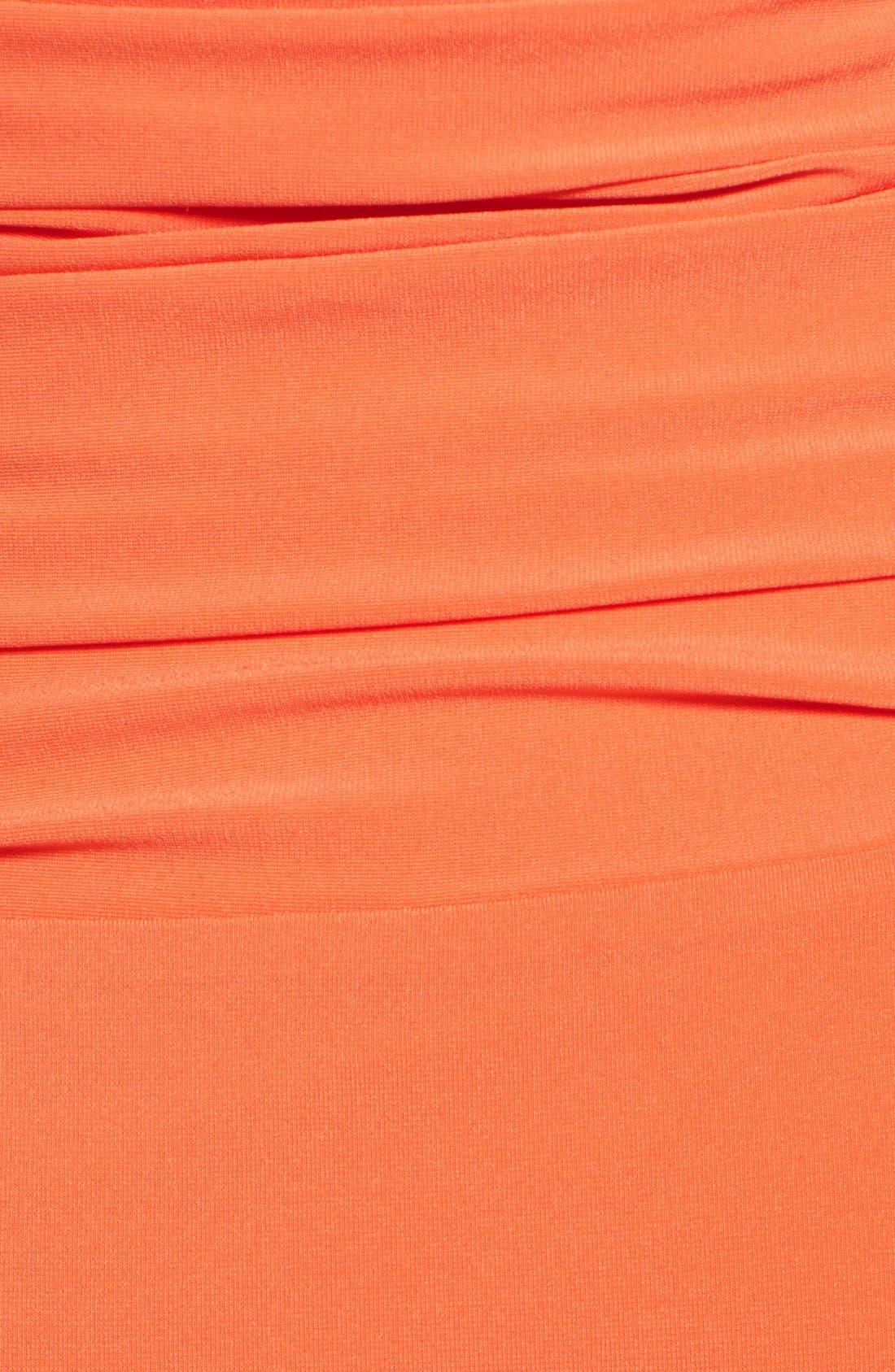 Alternate Image 4  - Halston Heritage Knotted V-Neck Jersey Dress