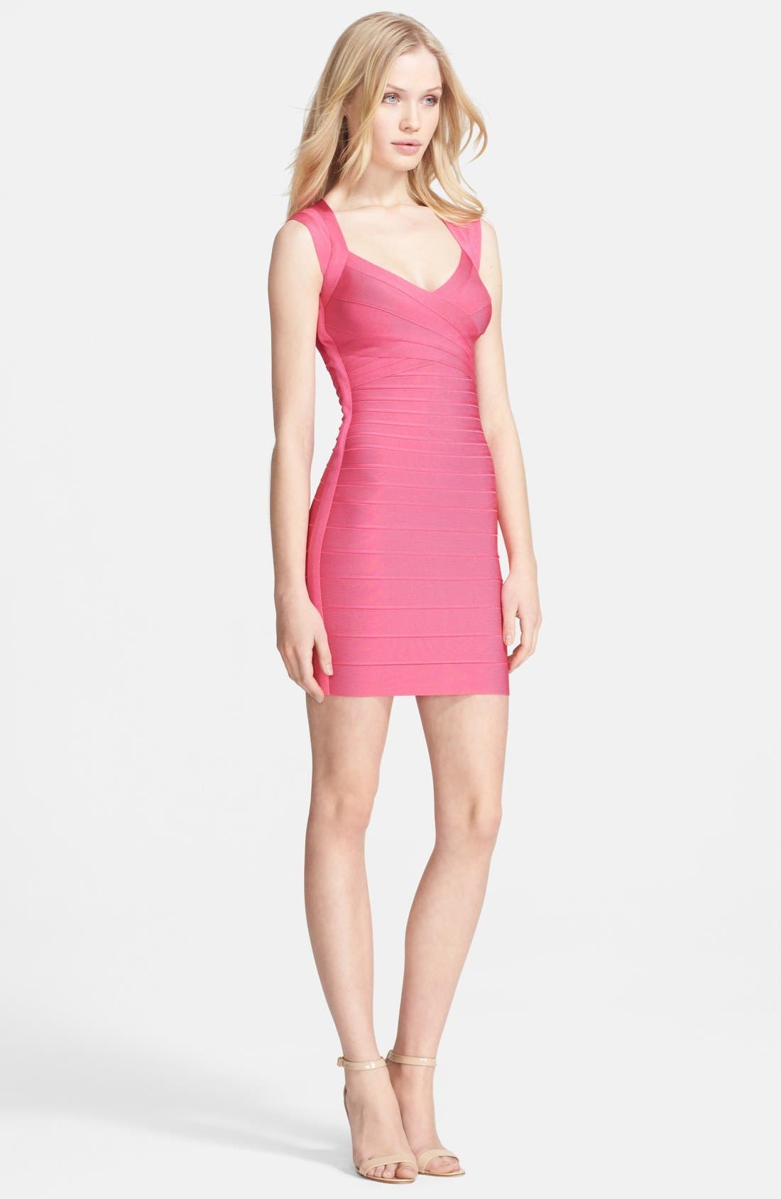 Alternate Image 1 Selected - Herve Leger Open Back Bandage Dress