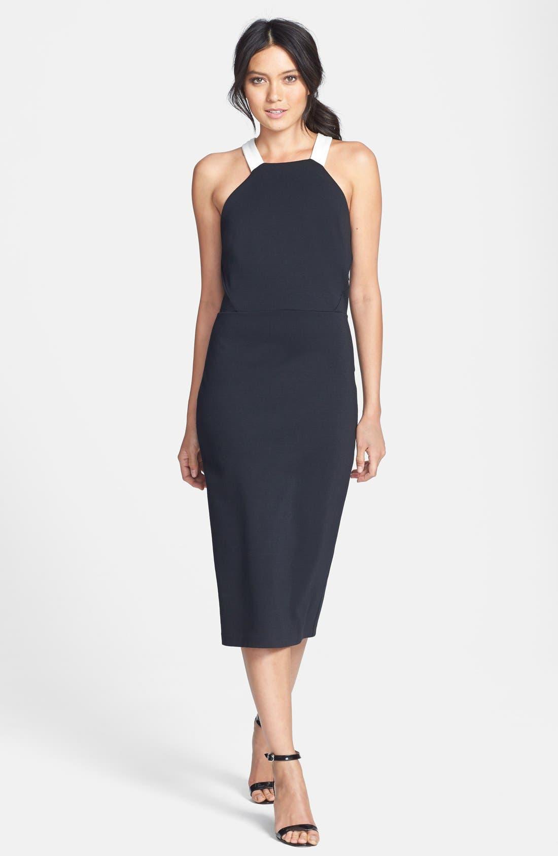 Alternate Image 1 Selected - Trouvé Ponte Knit Midi Dress