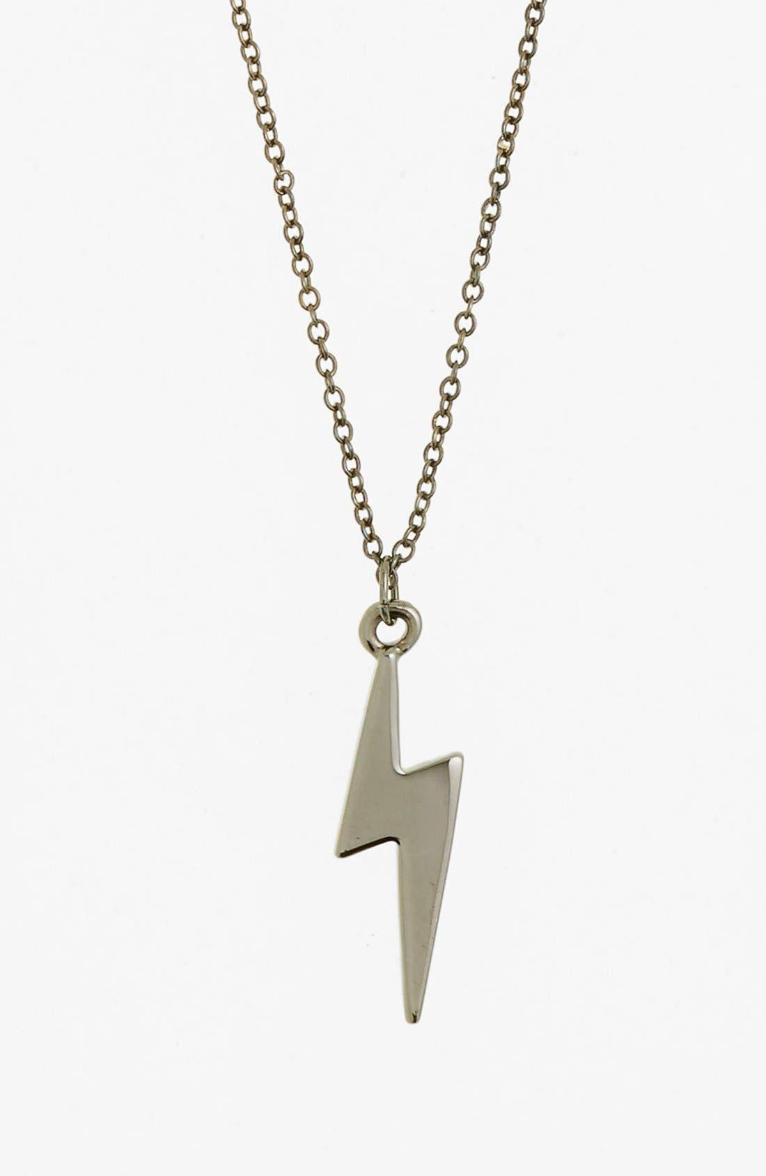 Alternate Image 1 Selected - Rebecca Minkoff 'Jewel Box' Mini Bolt Pendant Necklace