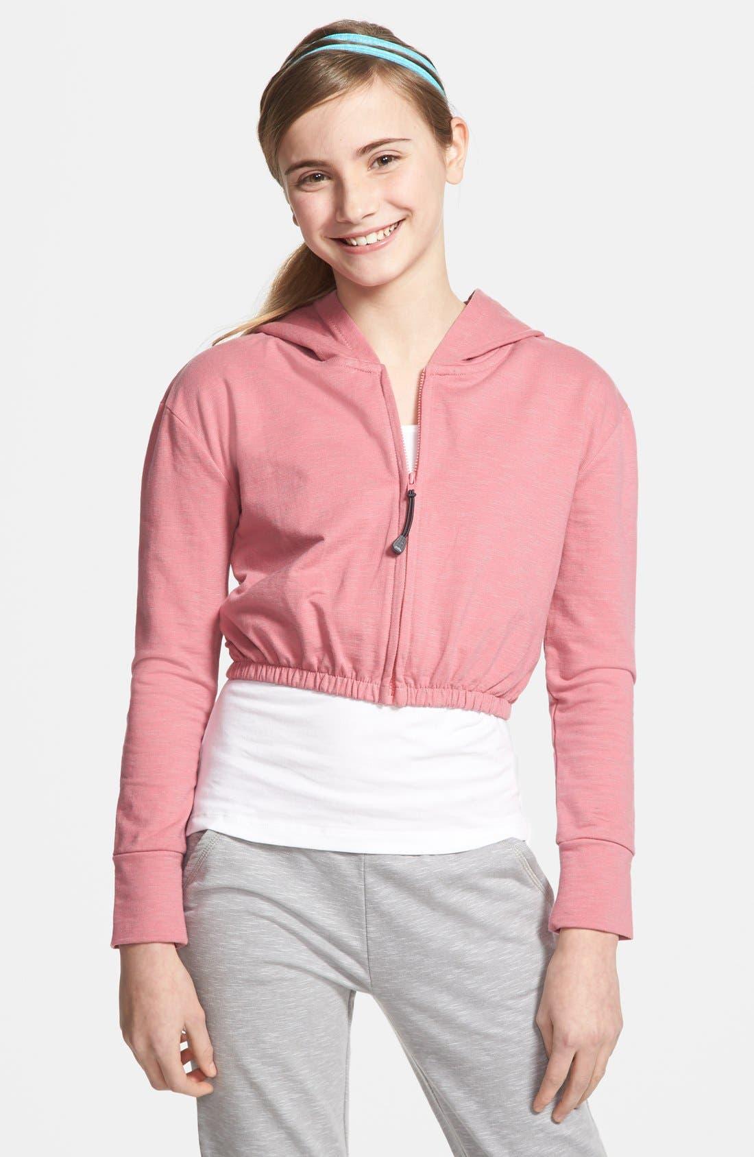 Alternate Image 1 Selected - Zella 'Escape' Sweatshirt (Little Girls & Big Girls)
