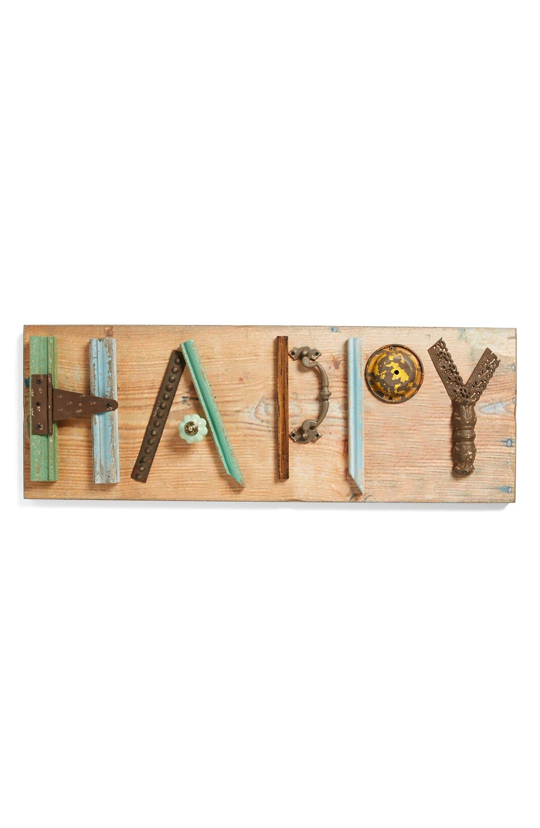 Main Image - Foreside 'Happy' Mixed Media Sign