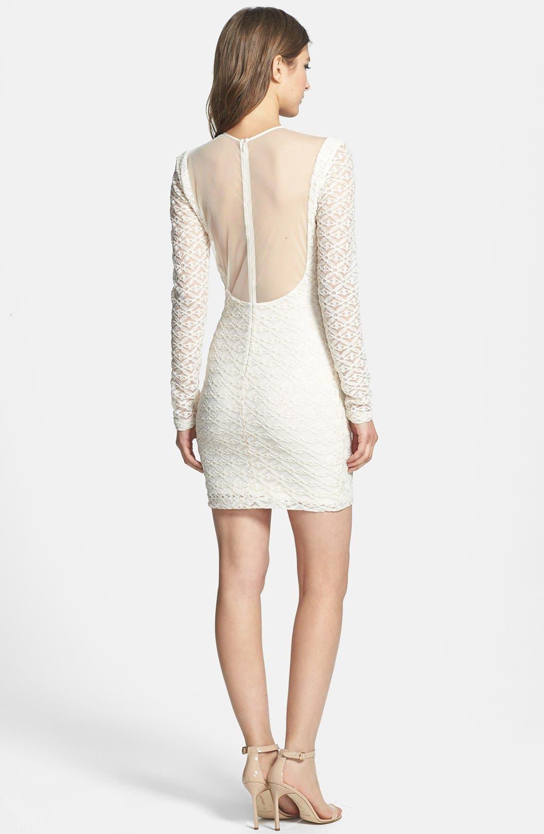 Alternate Image 2  - Dress the Population 'Jessica' Textured Metallic Body-Con Dress