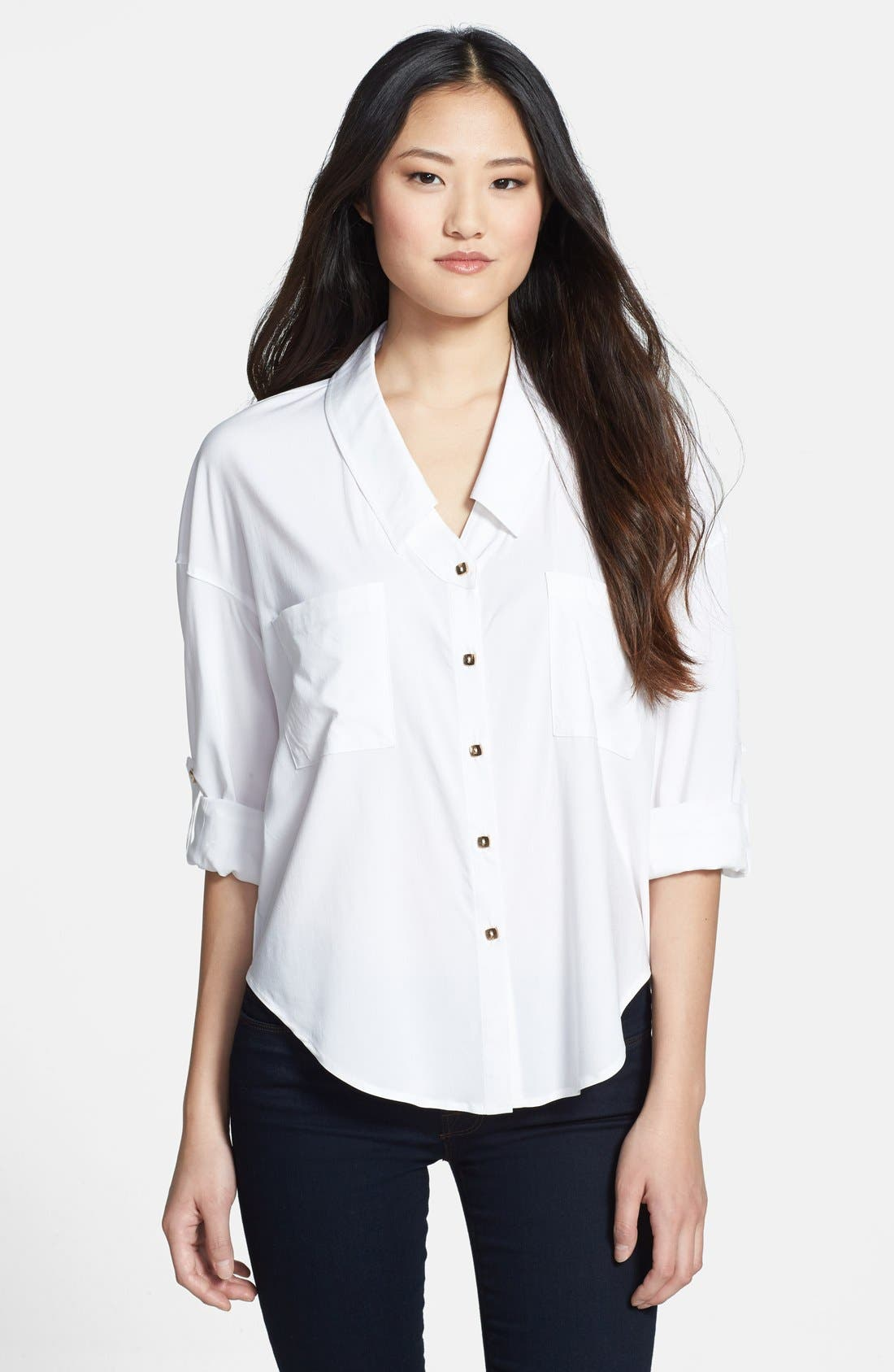 Alternate Image 1 Selected - KUT from the Kloth 'Rebecca' Roll Sleeve Blouse