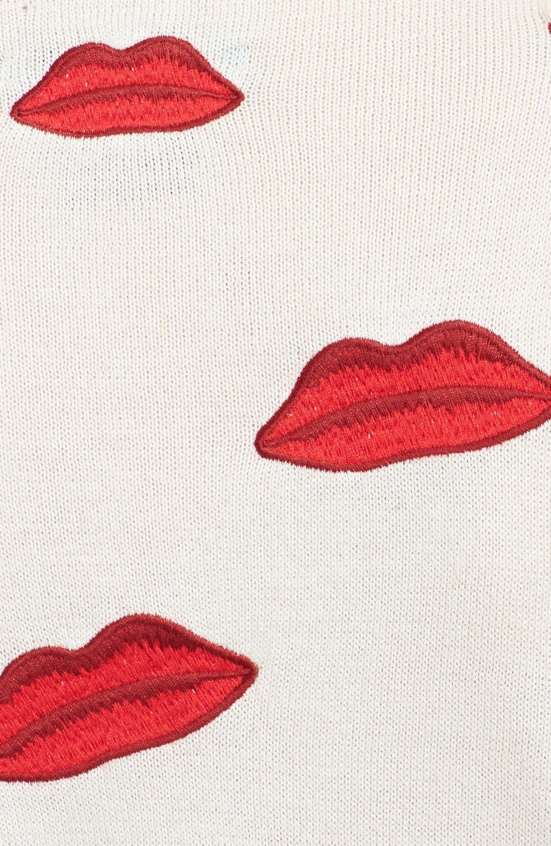 Alternate Image 3  - Alice + Olivia Embroidered Appliqué Cotton Cardigan