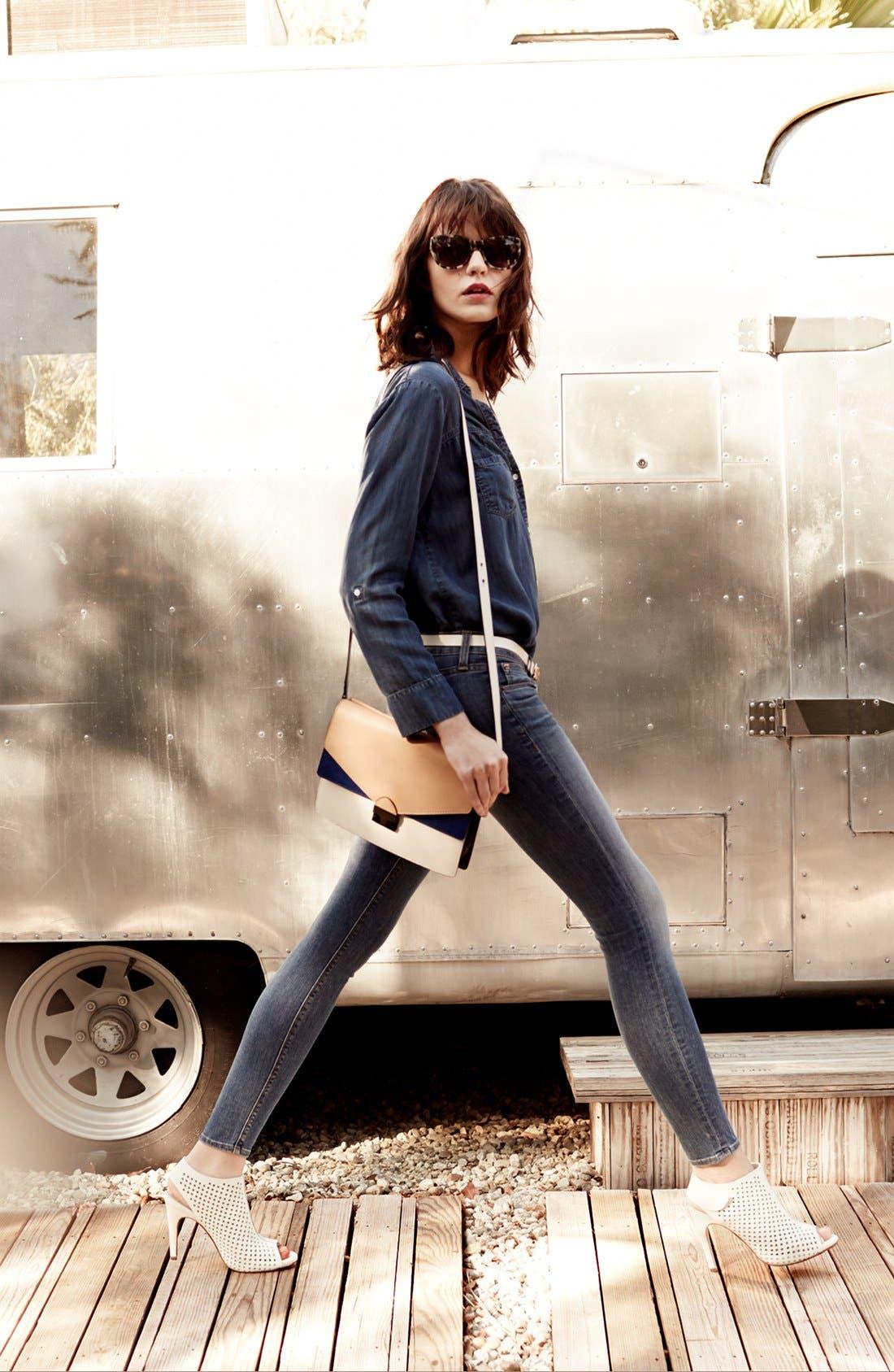 Alternate Image 4  - Hudson Jeans 'Krista' Super Skinny Jeans (Floyd 2)