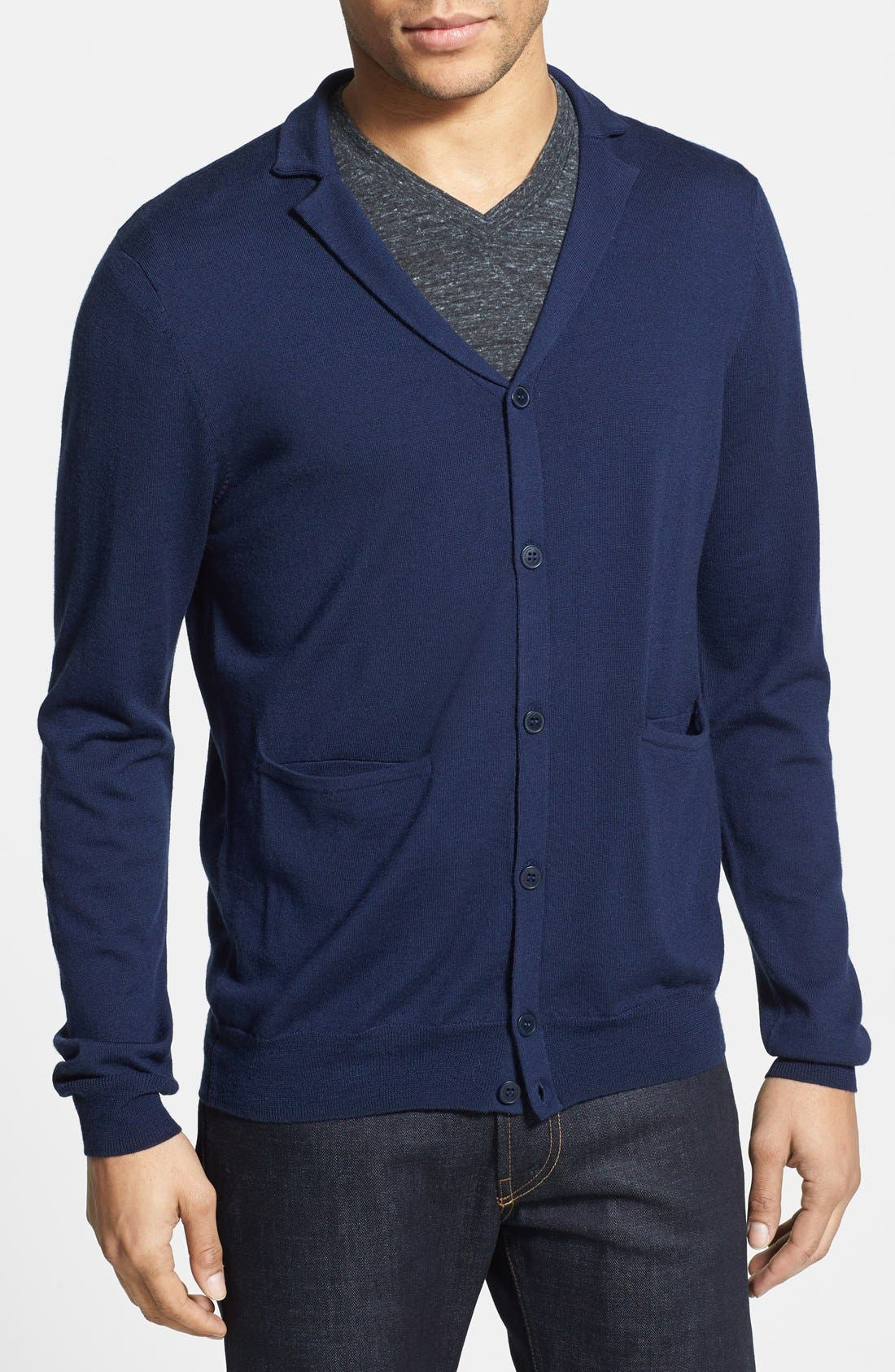 Alternate Image 1 Selected - Vince Camuto Slim Fit Merino Wool Cardigan