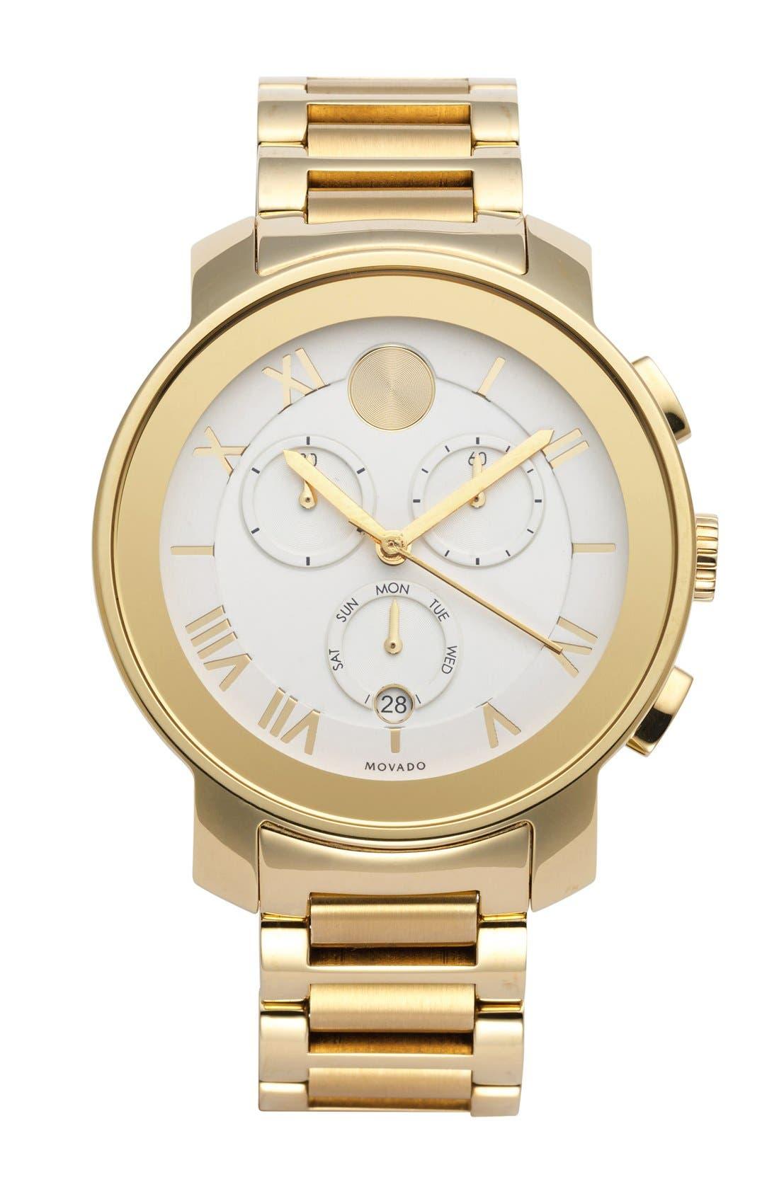 Main Image - Movado 'Bold' Chronograph Bracelet Watch, 40mm