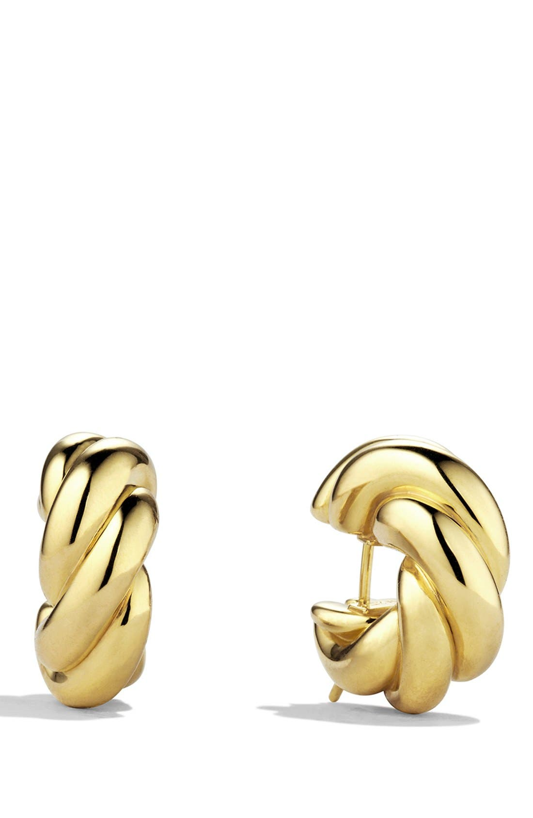 Alternate Image 1 Selected - David Yurman 'Sculpted Cable' Small Earrings in Gold