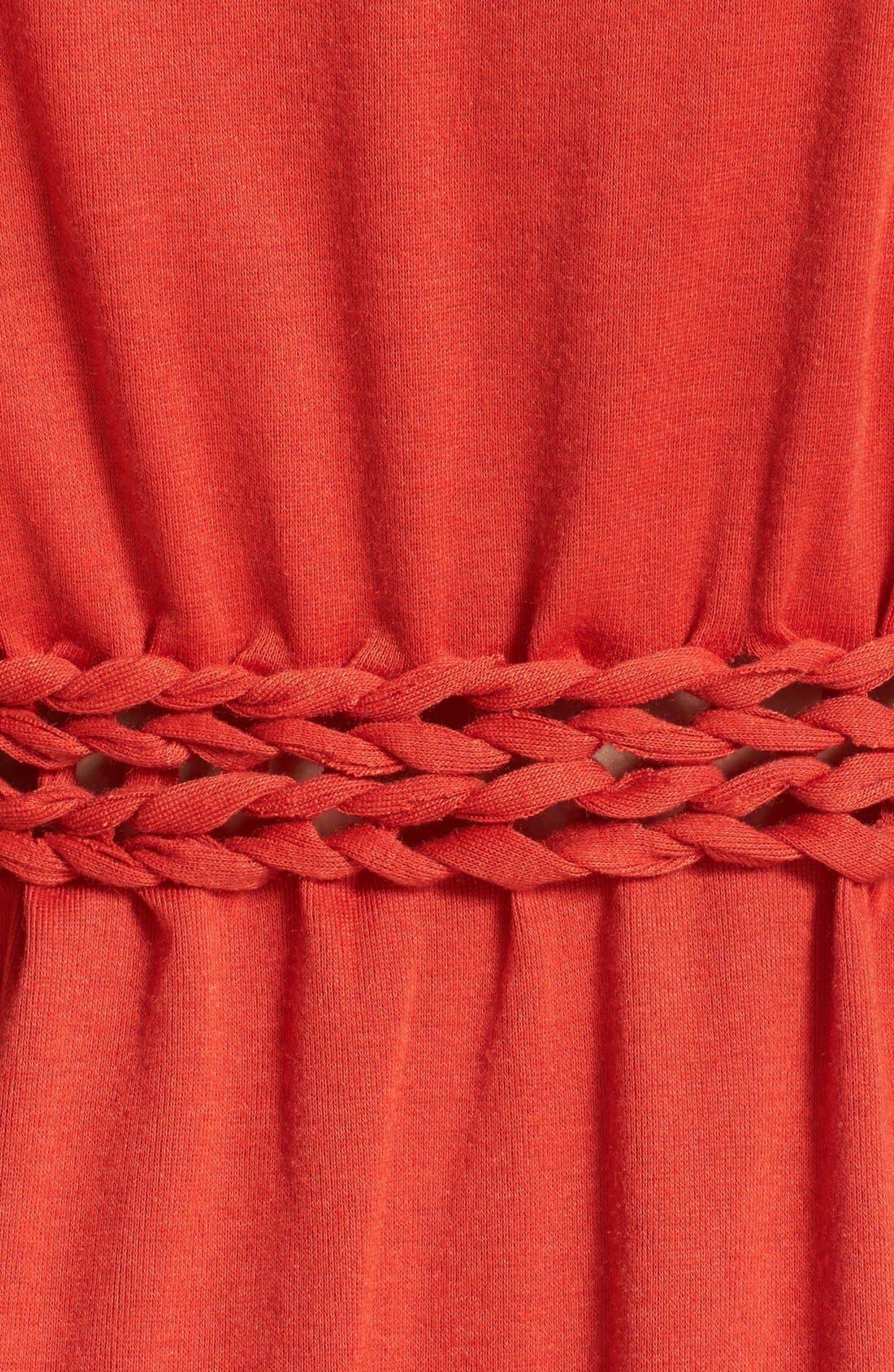 Alternate Image 3  - Knot Sisters 'Logan' Braided Waist Jersey Maxi Dress