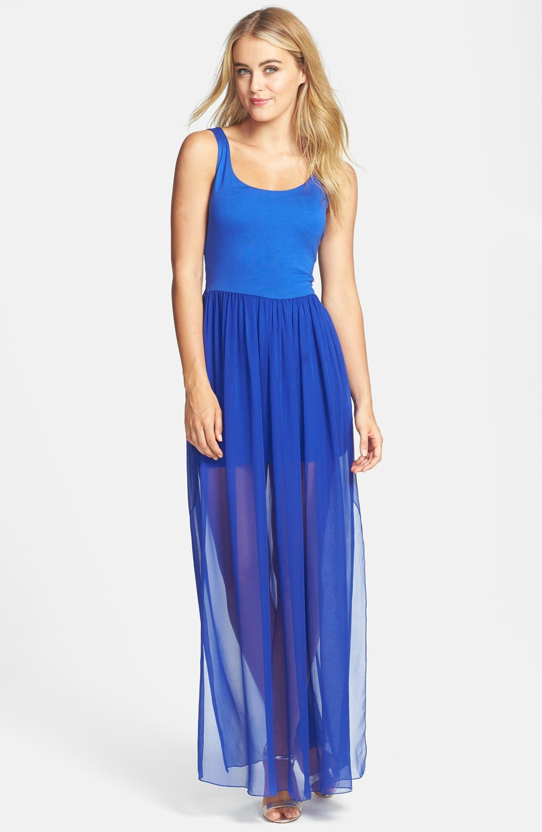 Main Image - Felicity & Coco 'Sebastian' Mixed Media Maxi Dress