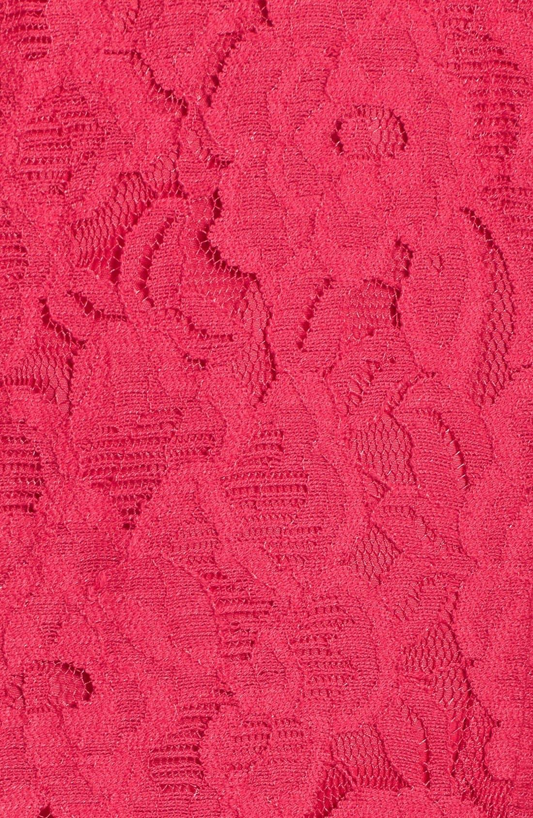 Alternate Image 3  - Adrianna Papell Lace Sheath Dress (Plus Size)