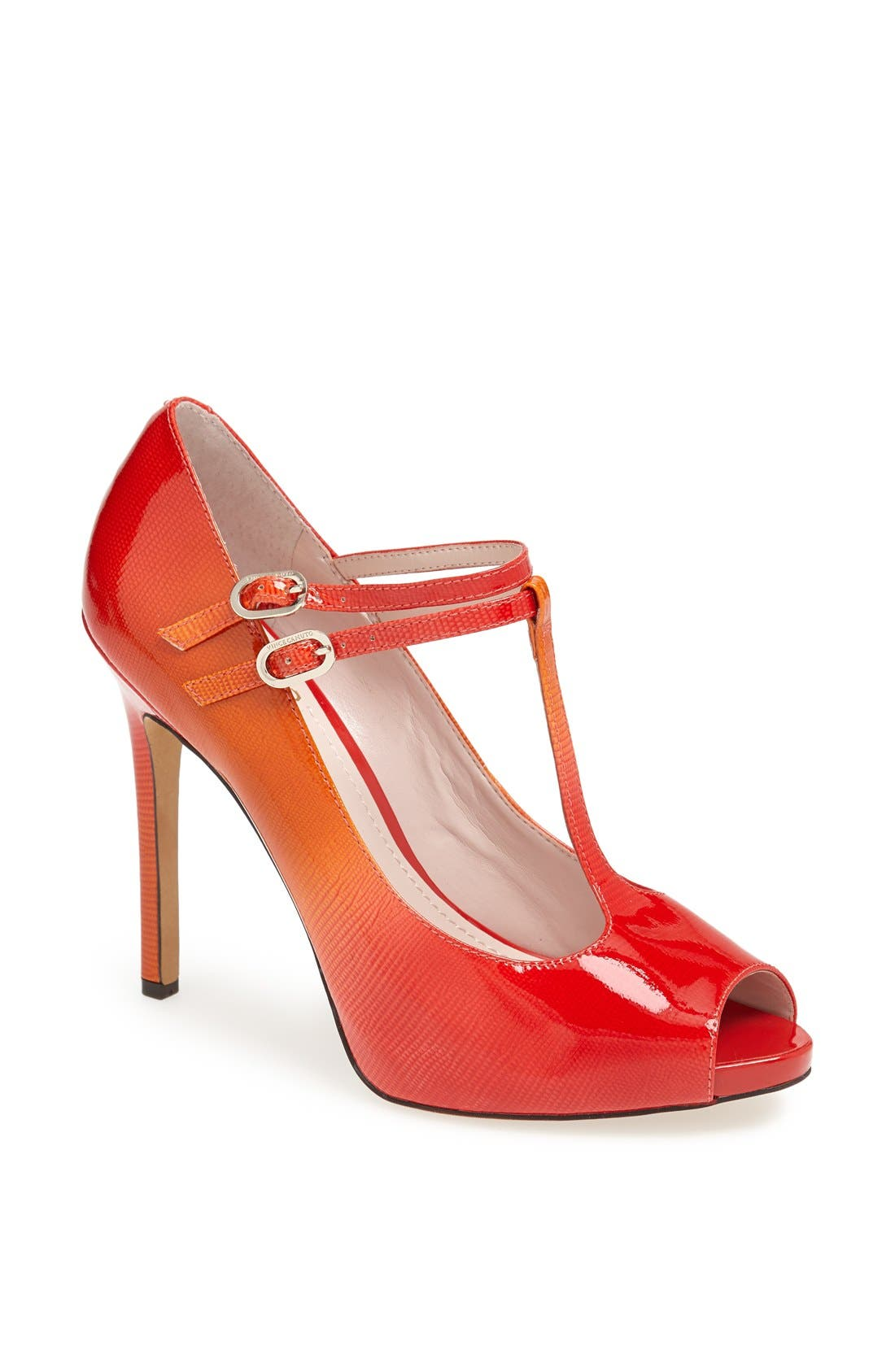 Alternate Image 1 Selected - Vince Camuto 'Carlii' Patent Leather Peep Toe Pump