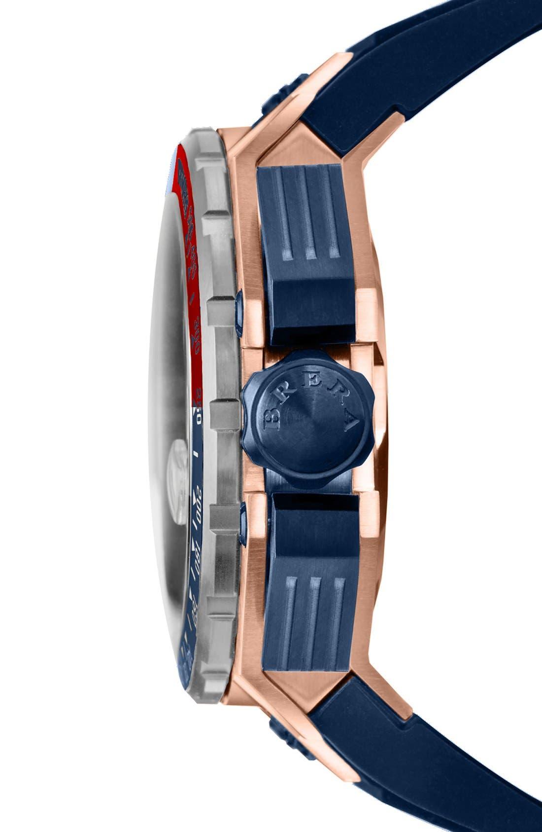 Alternate Image 3  - Brera 'Gran Turismo' Chronograph Silicone Strap Watch, 54mm