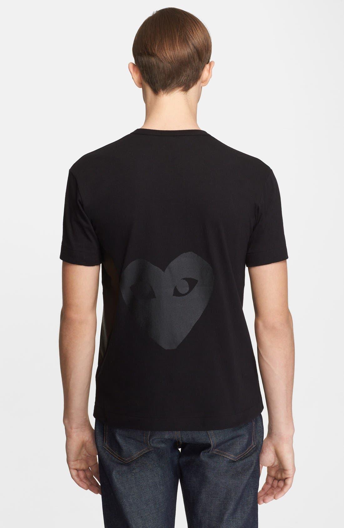 Alternate Image 2  - Comme des Garçons PLAY Inverted Heart Print T-Shirt