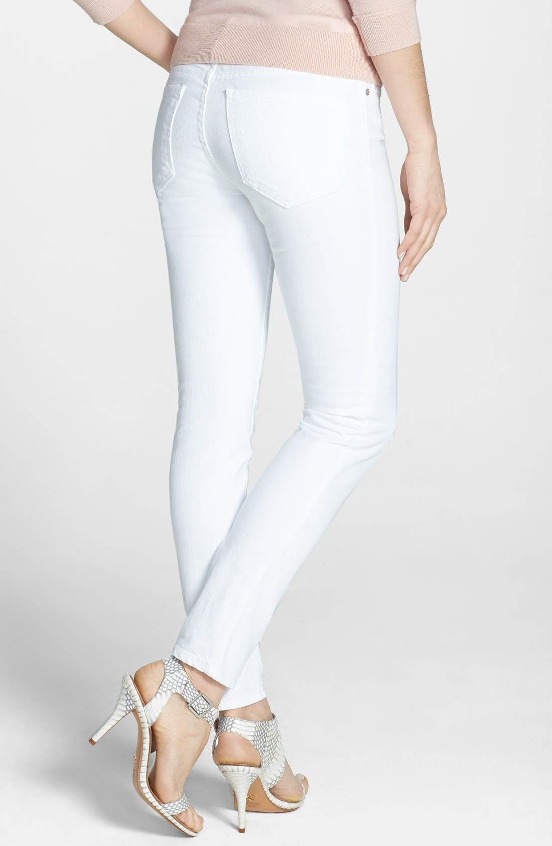 Alternate Image 2  - Joie Mid Rise Stretch Skinny Jeans (Dandelion White)