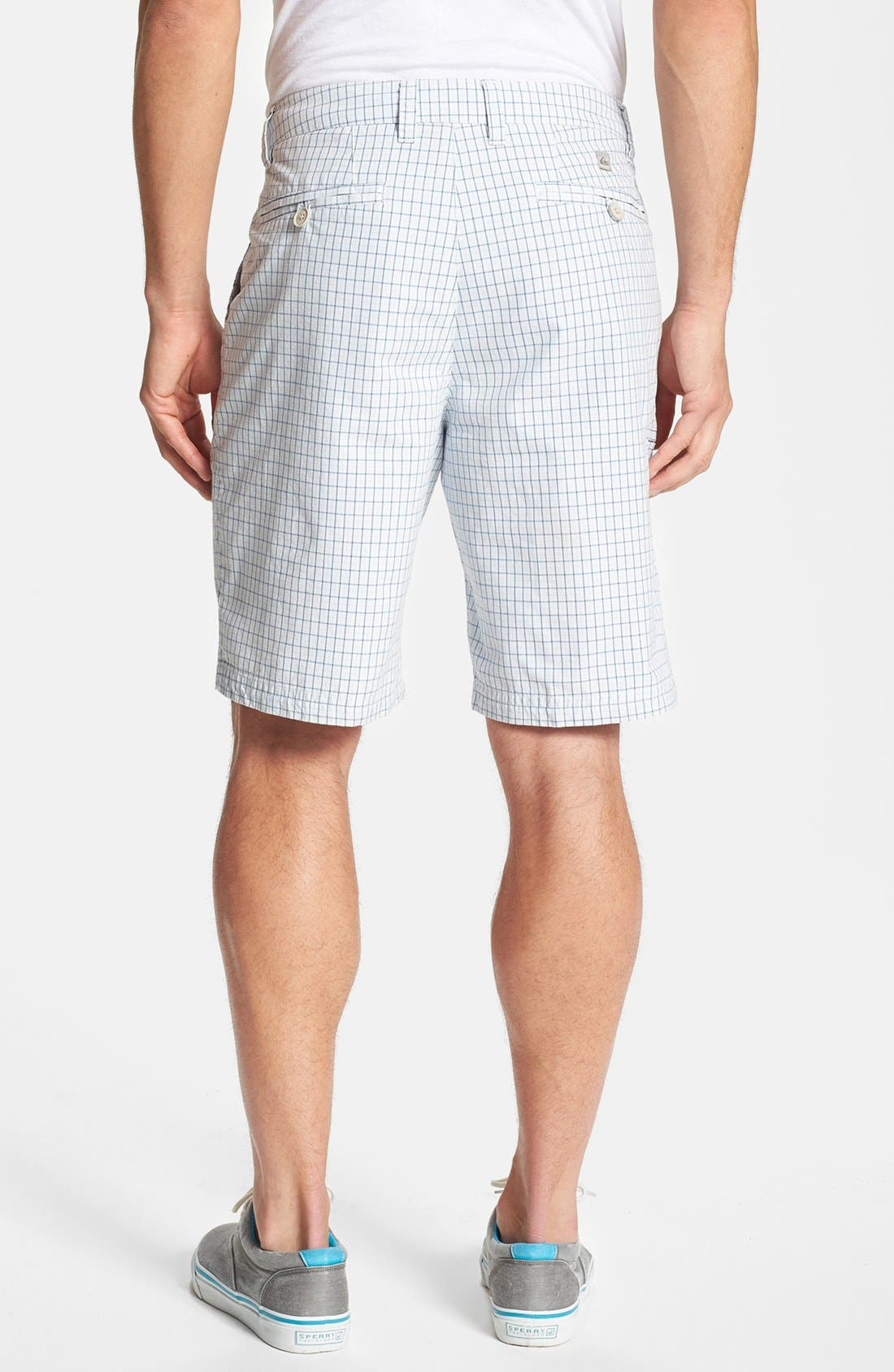 Alternate Image 2  - Quiksilver 'Hampton' Plaid Cotton Shorts