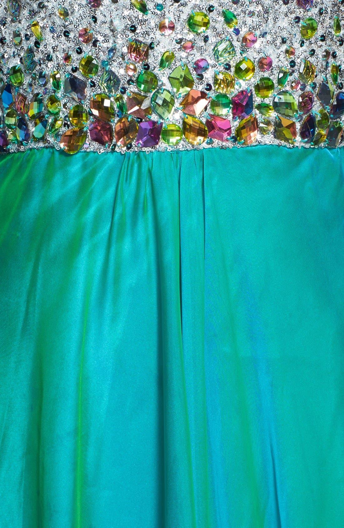 Alternate Image 3  - Faviana Embellished Bodice Chiffon Gown